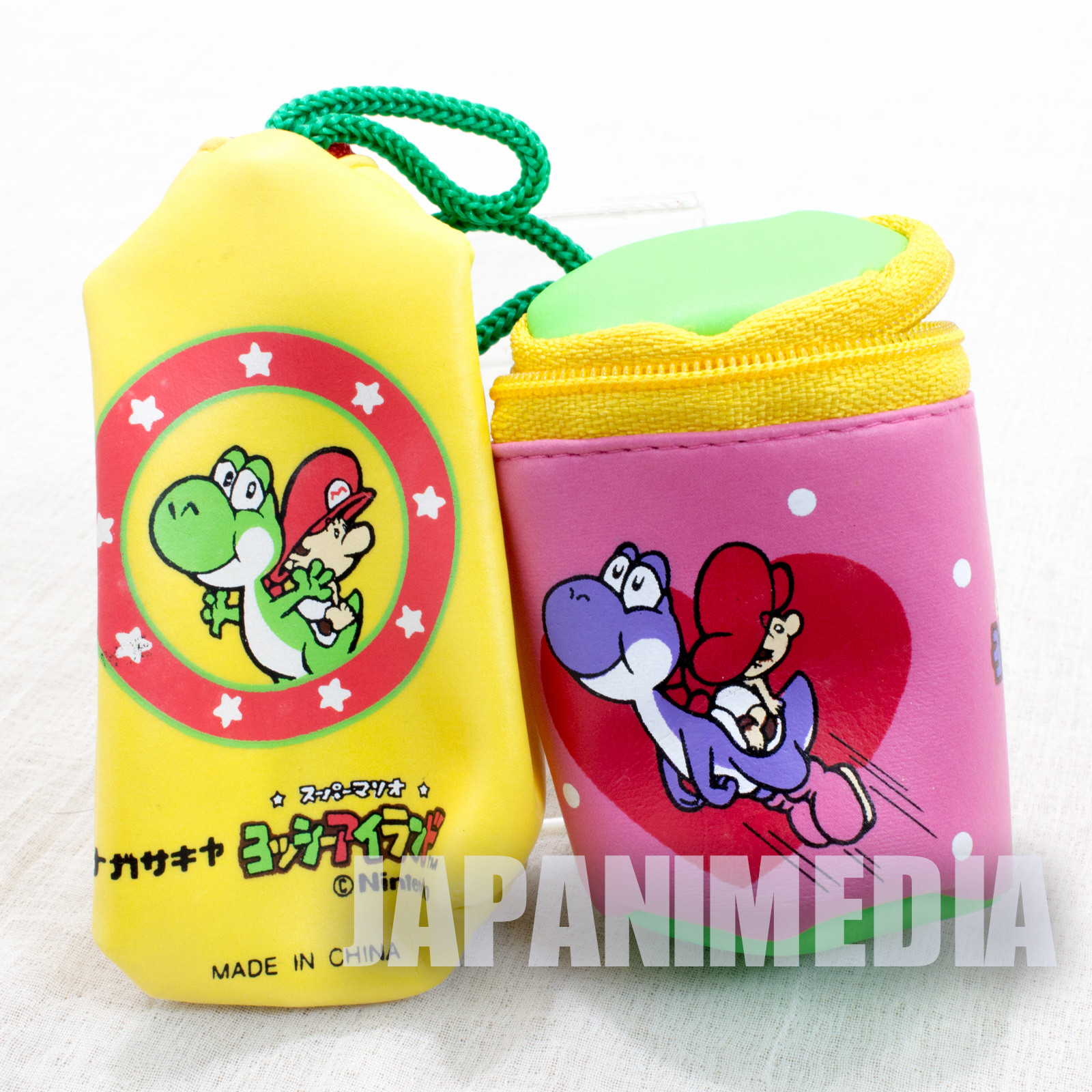 Retro Super Mario Bros. Yoshi's Island Small size Bag Case 2pc Set SNES NINTENDO