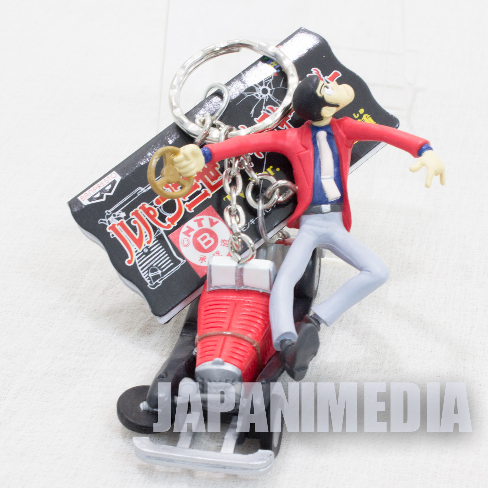Lupin the Third (3rd) LUPIN & Mercedes-Benz Figure Keychain JAPAN ANIME MANGA