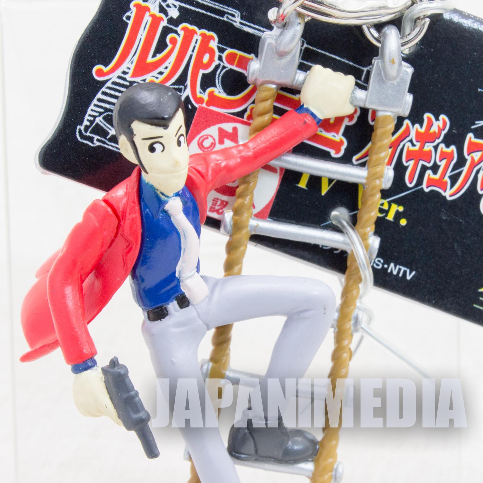 Lupin the Third (3rd) LUPIN on Ladder Figure Keychain JAPAN ANIME MANGA