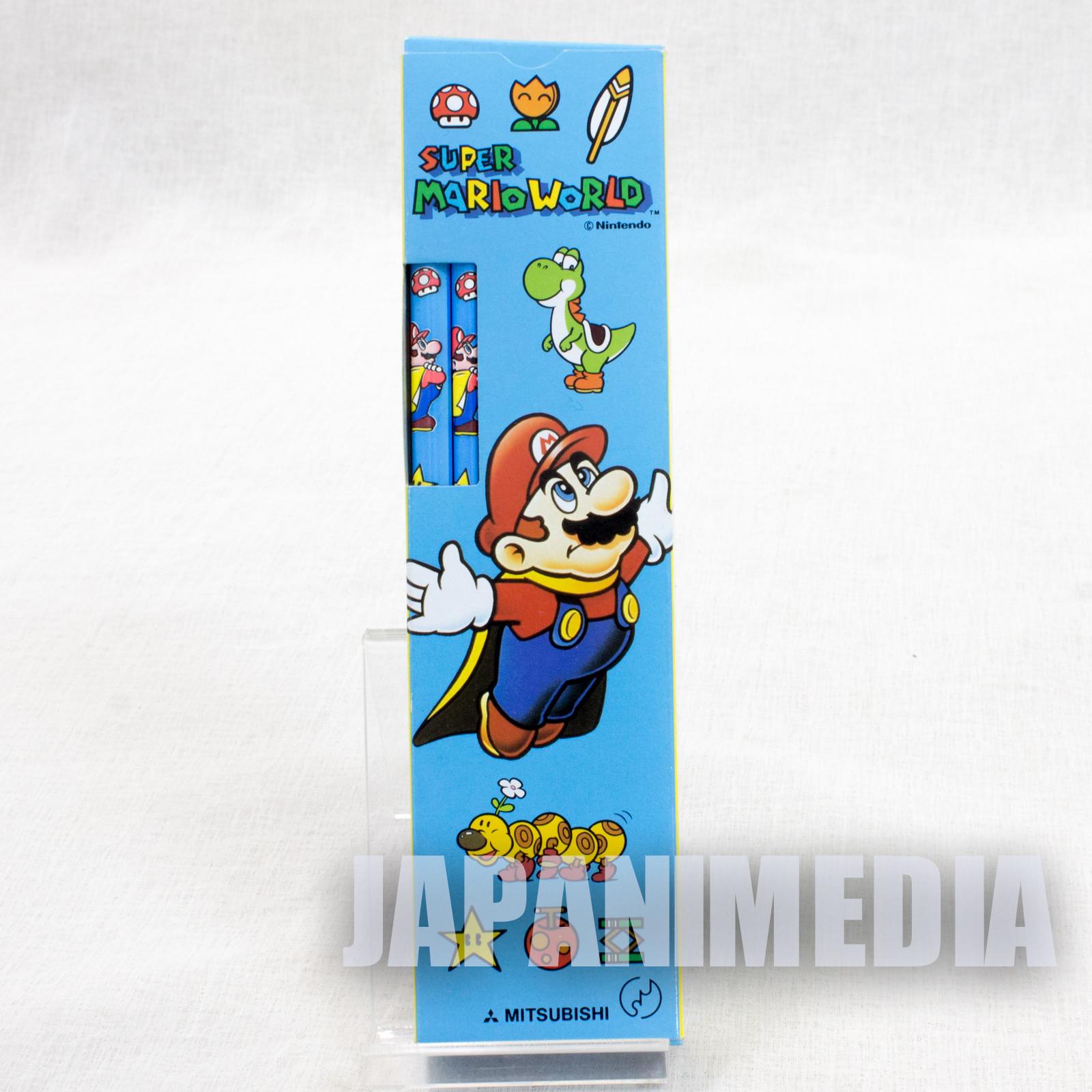Retro Super Mario World Pencil 12pc Set MITSUBISHI SNES NINTENDO