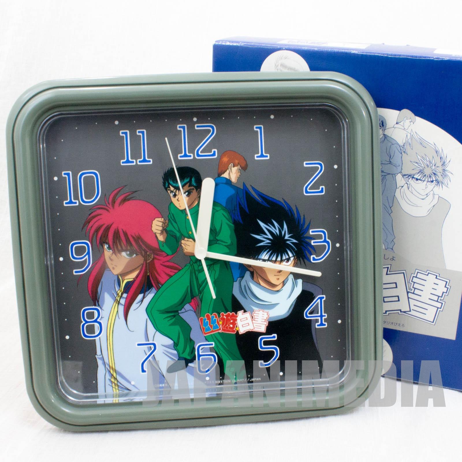 Yu Yu Hakusho Wall clock [Yusuke / Kuwabara / Kurama / Hiei] JAPAN ANIME