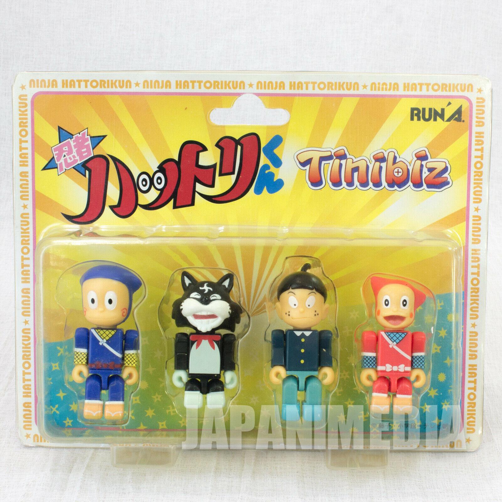 Ninja Hattori-kun Tinibiz Mini Figure 4pc Set [Hattori / Shinzo / Kemumaki / Kagetiyo] FUJIKO FUJIO