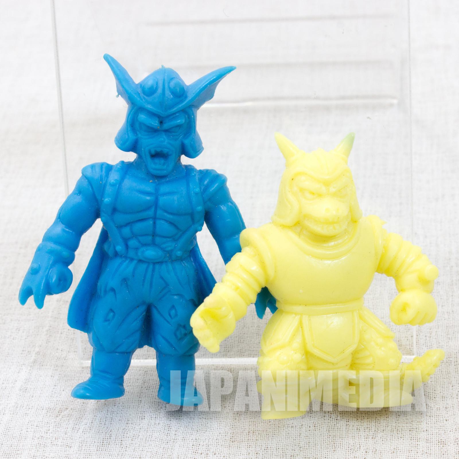 RARE Dragon Quest : Legend of the Hero Abel General Ludoff & lizard Man Mini Rubber Figure 2pc Set