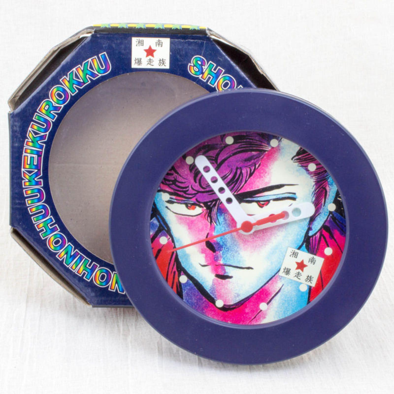RARE! Shonan Bakuso Zoku Retro Wall Clock 1 JAPAN ANIME MANGA TOORU FUJISAWA