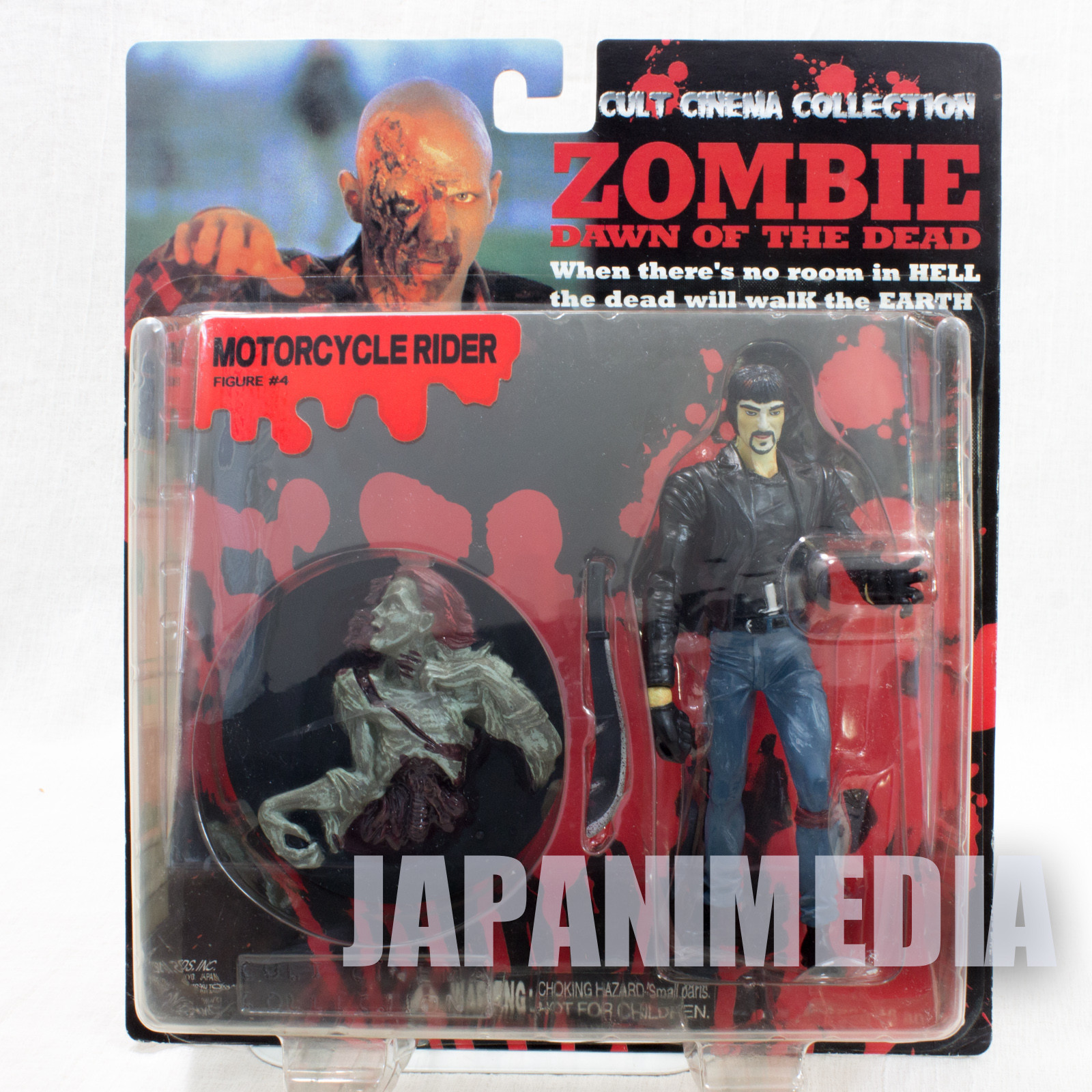 Zombie Dawn of the Dead Motorcycle Rider Figure Cult Cinema Collection