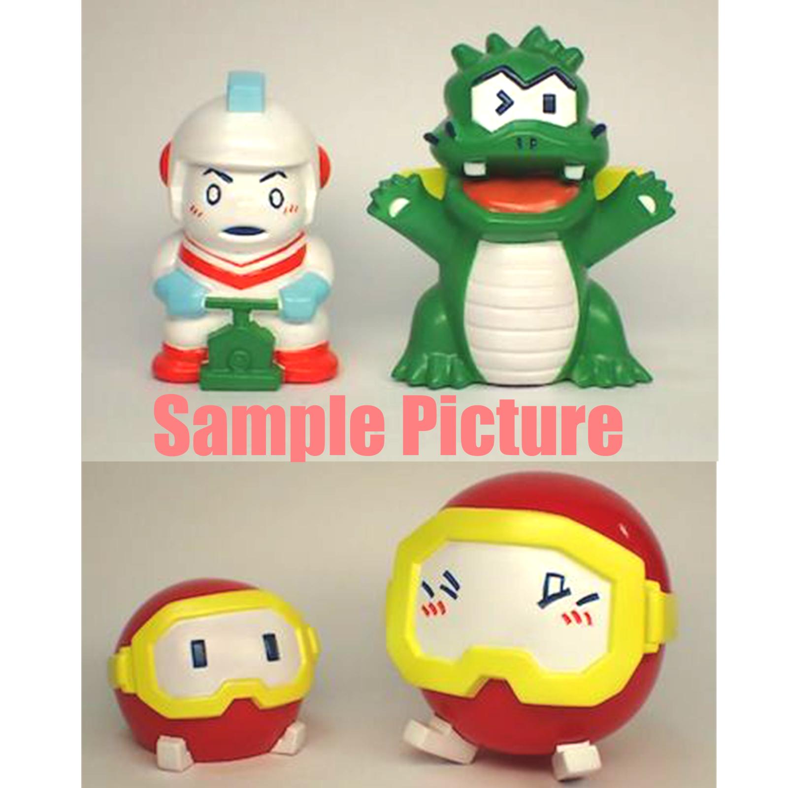 RARE! DIG DUG Namco Characters Soft Vinyl Model Kit 4pc Set Wonder Festival
