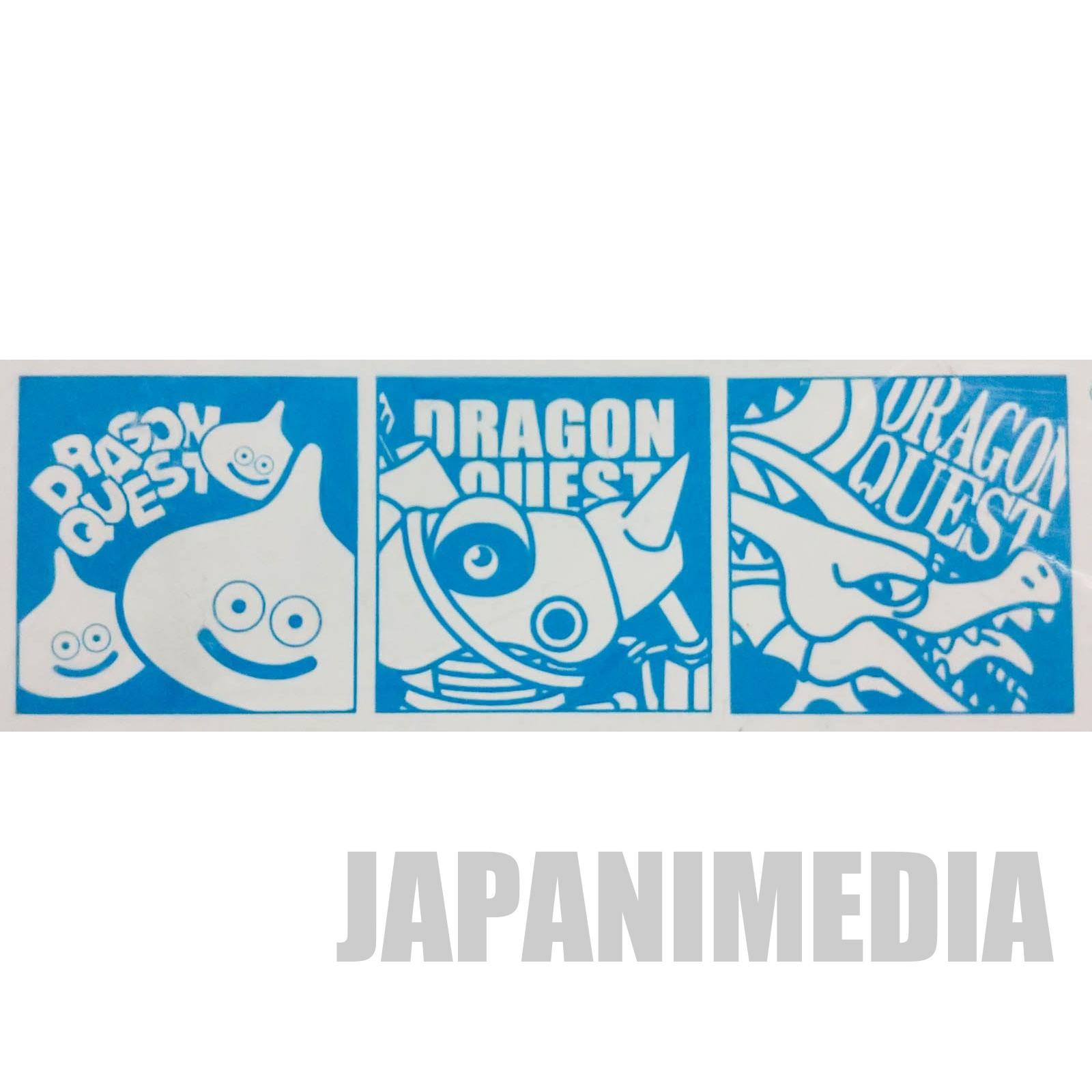 Dragon Quest Mini Towel 8 x 8 inch 3pc Set SQUARE ENIX JAPAN GAME