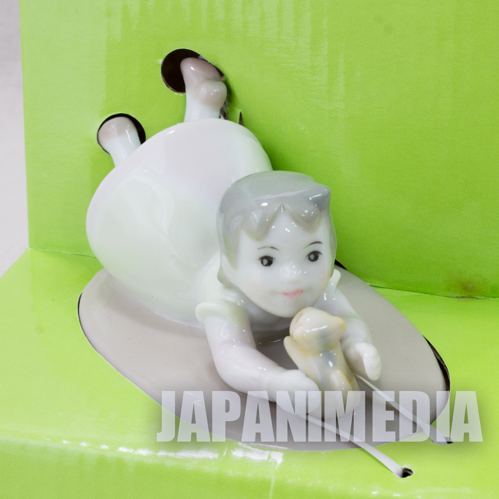 Heidi Girl of the Alps Ceramic Figure Heidi & Kitten JAPAN ANIME