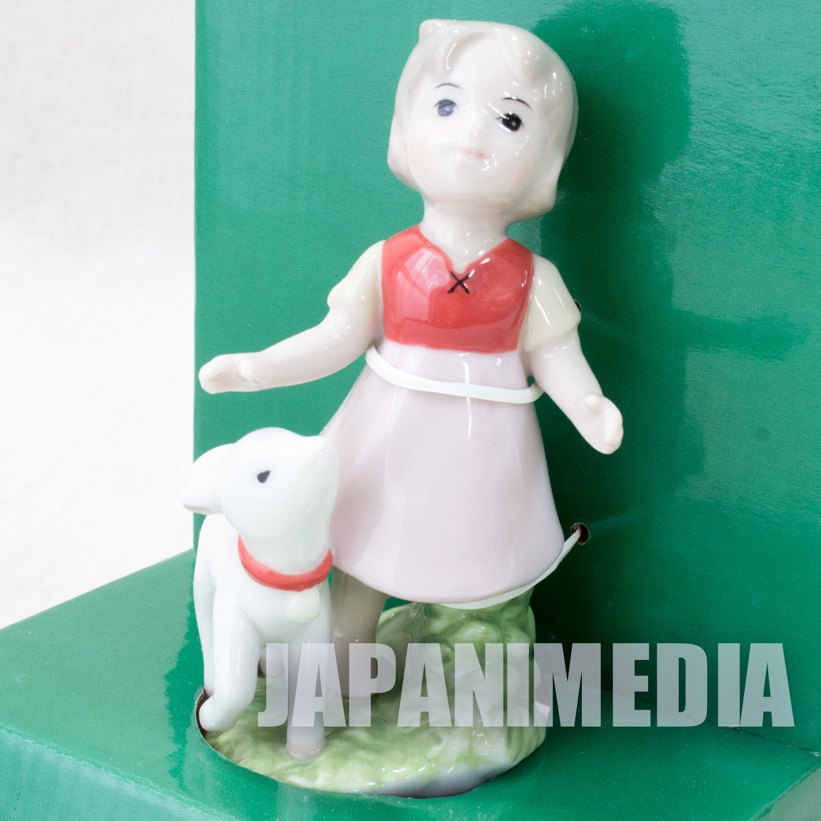 Heidi Girl of the Alps Ceramic Figure Heidi & Yuki JAPAN ANIME