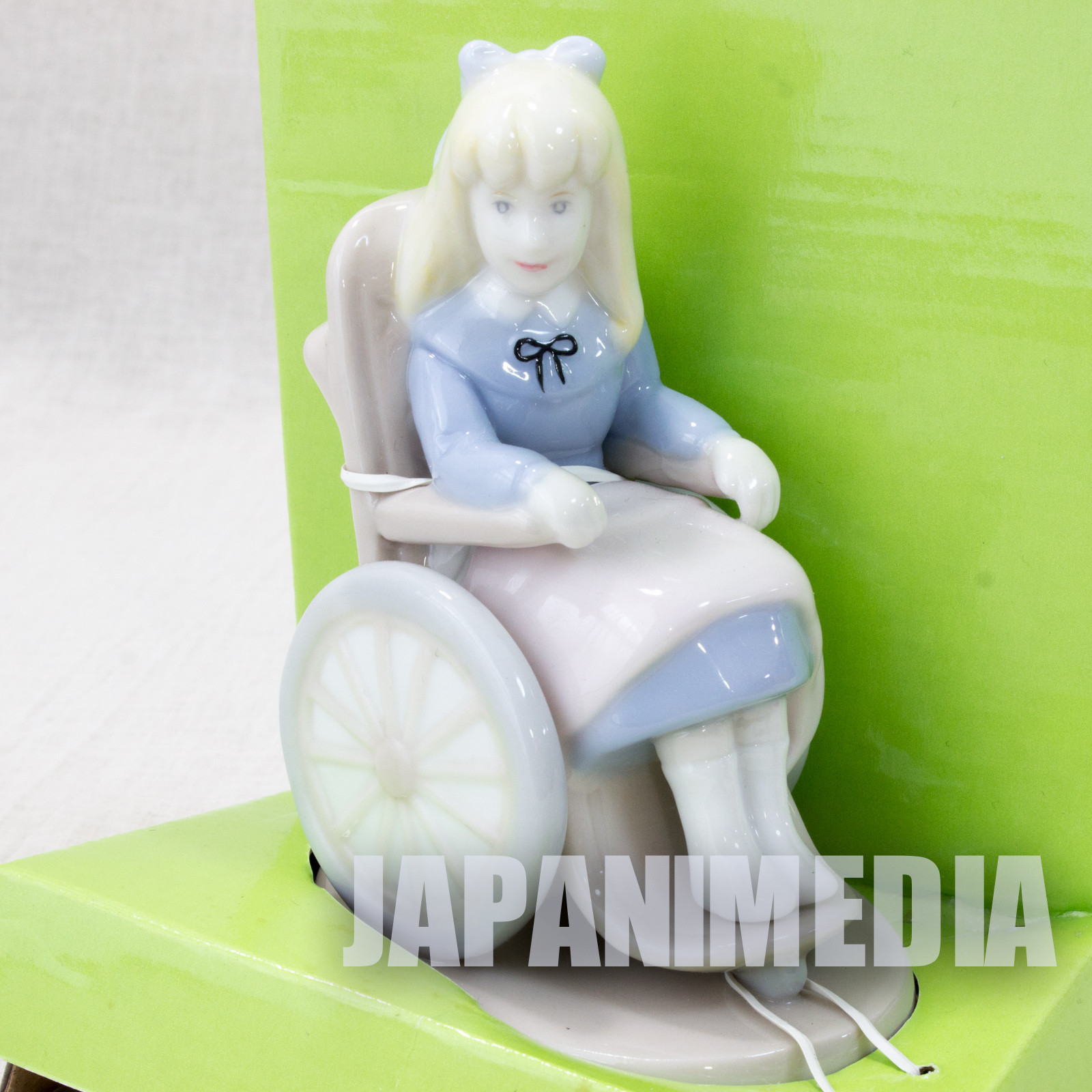 Heidi Girl of the Alps Ceramic Figure Clara on Wheelchair JAPAN