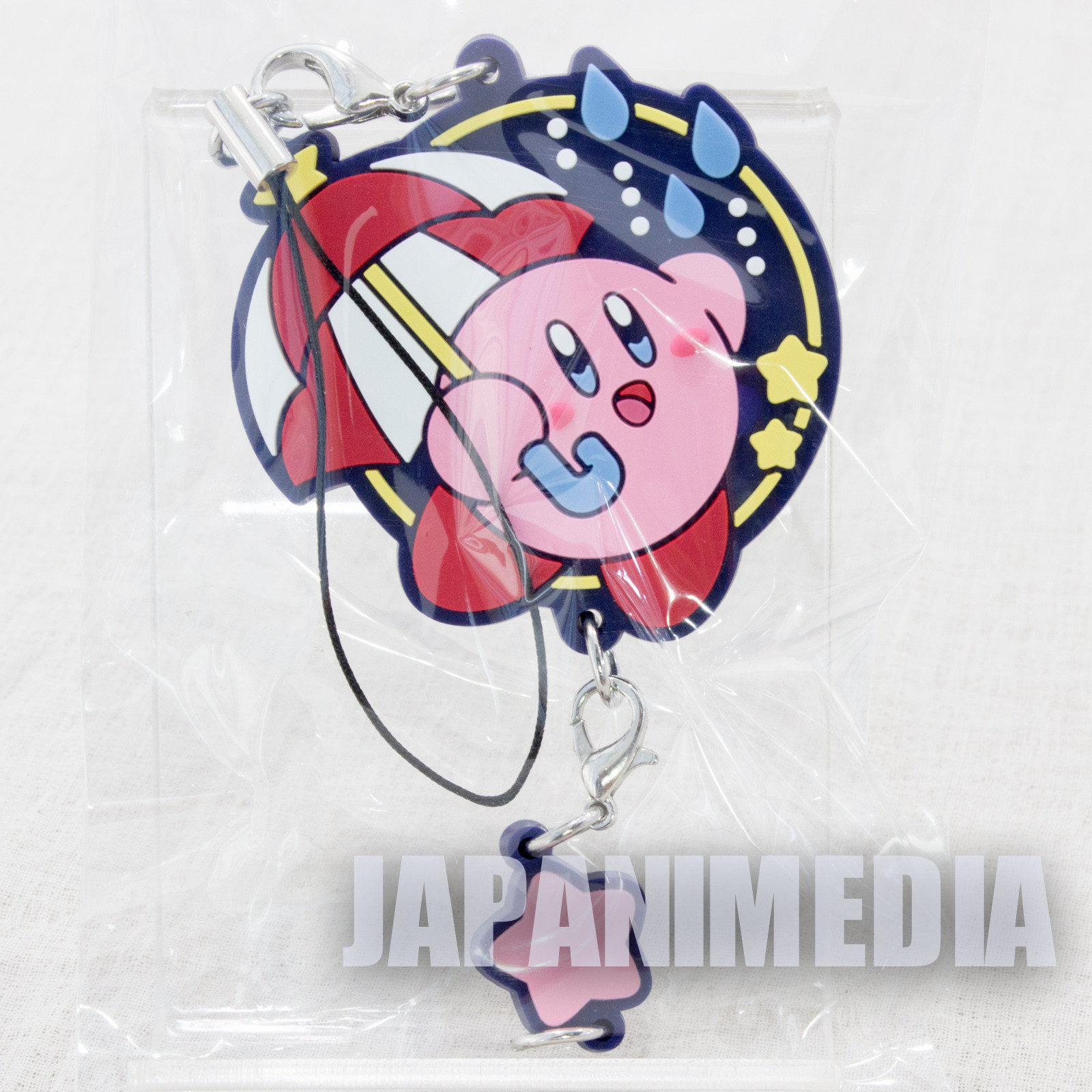 Kirby Super Star Mascot Rubber Strap Parasol ver. Banpresto JAPAN NINTNEDO