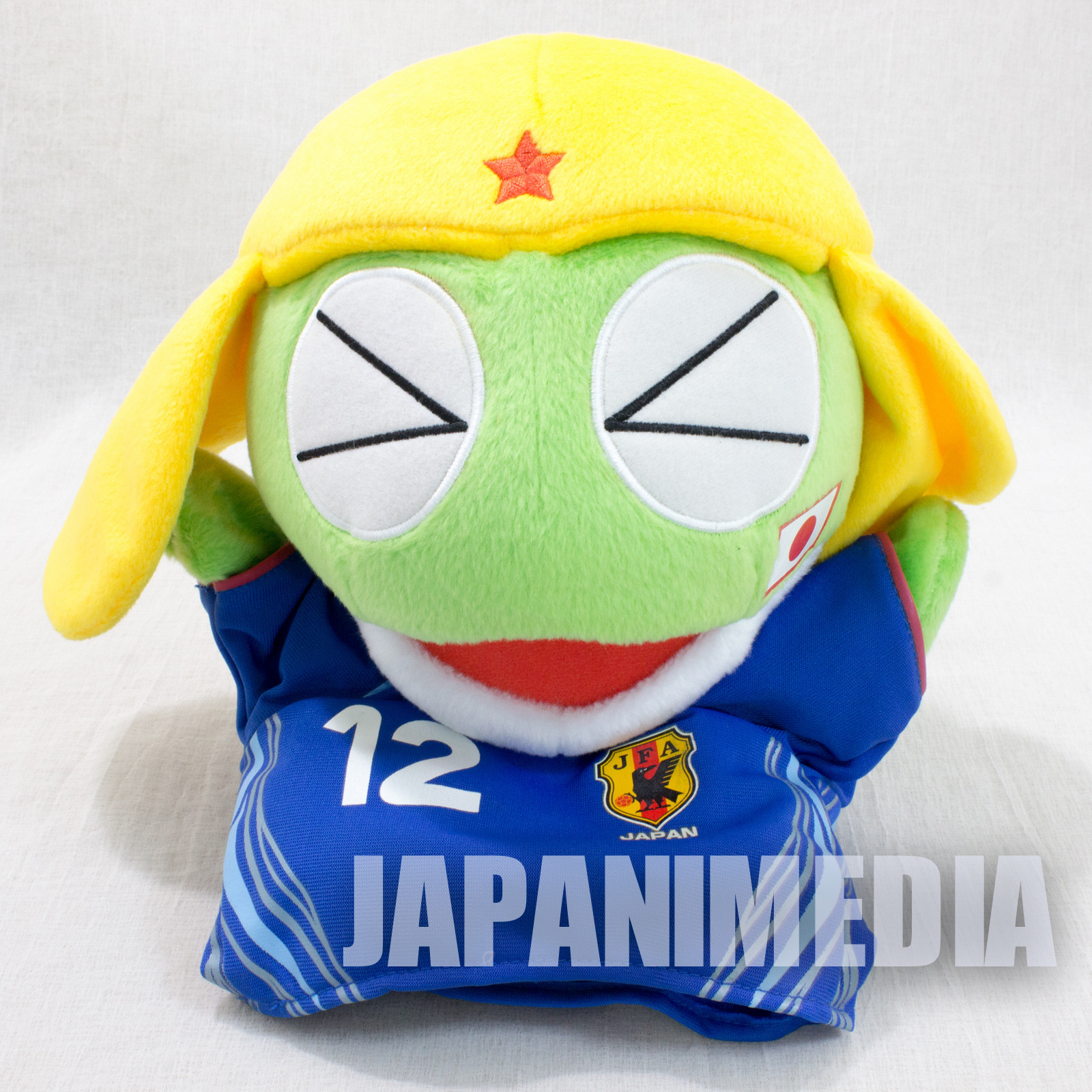 Sgt. Frog Keroro Gunso Football Uniform Plush Doll Hand Puppet JAPAN