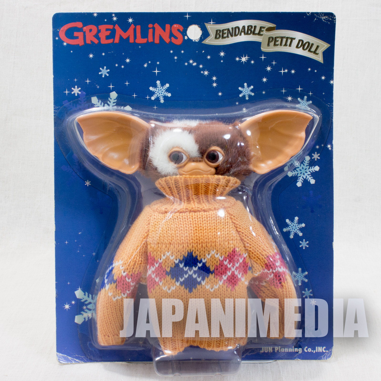 RARE! Gremlins 2 Gizmo Orange Sweater Bendable Petit Doll Figure Jun Planning
