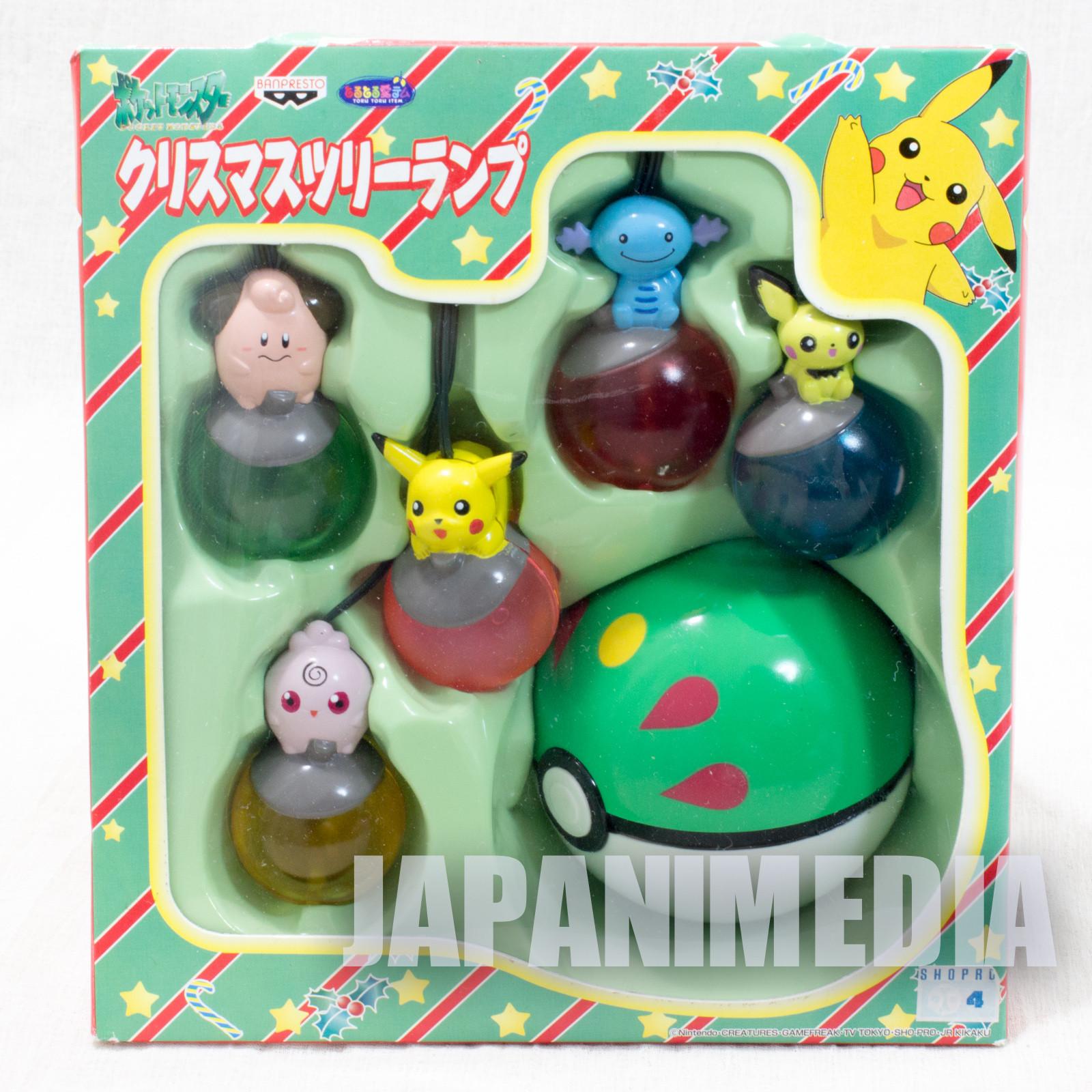 Pokemon Christmas Tree Lamp Light Ornament #2 Banpresto JAPAN ANIME PIKACHU