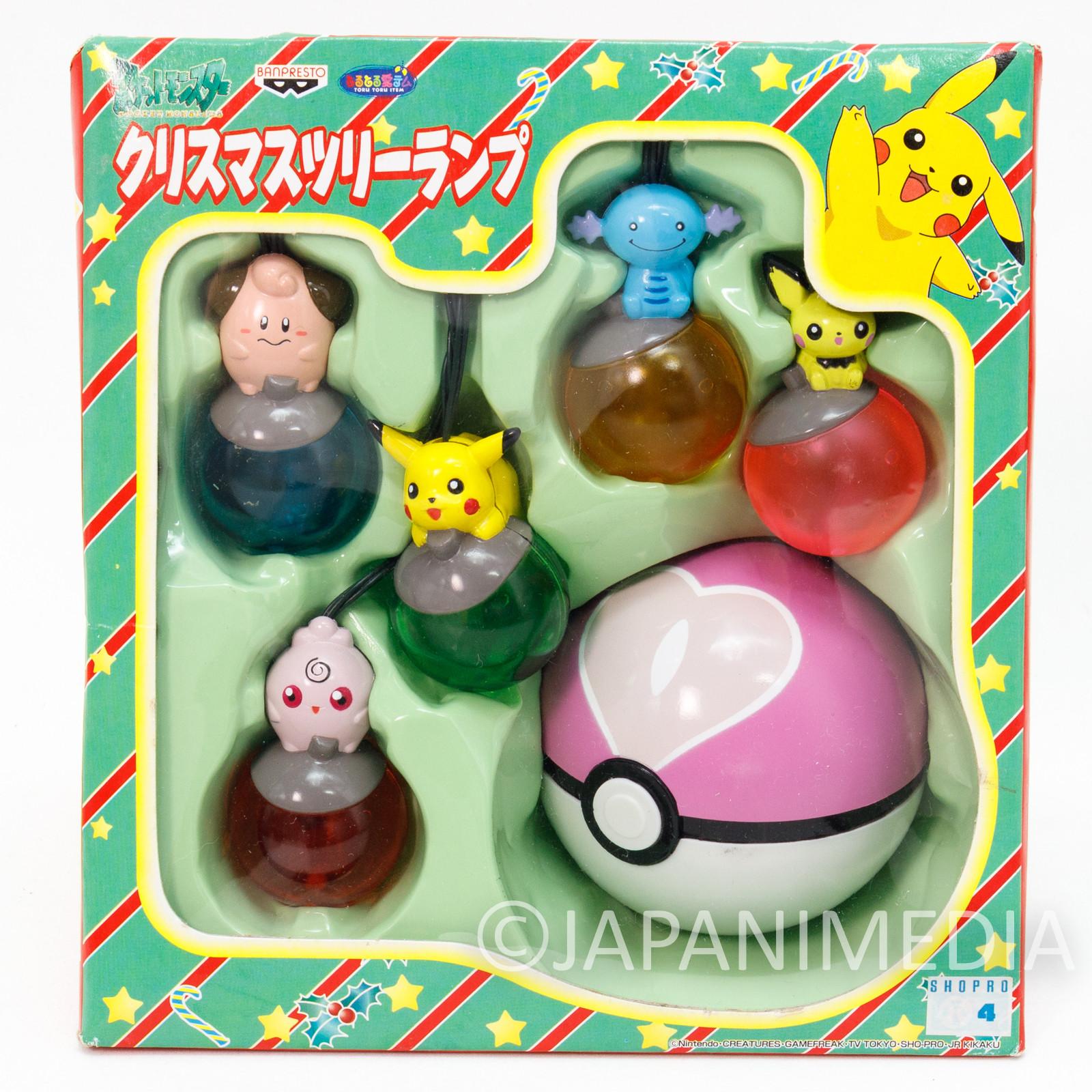 Pokemon Christmas Tree Lamp Light Ornament #3 Banpresto JAPAN ANIME PIKACHU