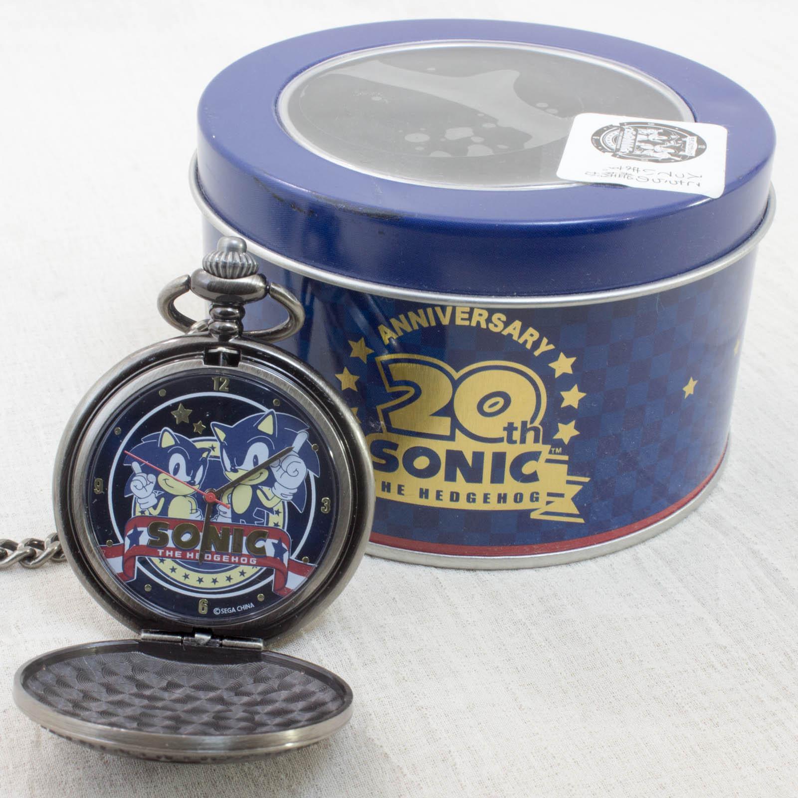 Sonic The Hedgehog 20th Anniversary Pocket watch SEGA JAPAN GAME