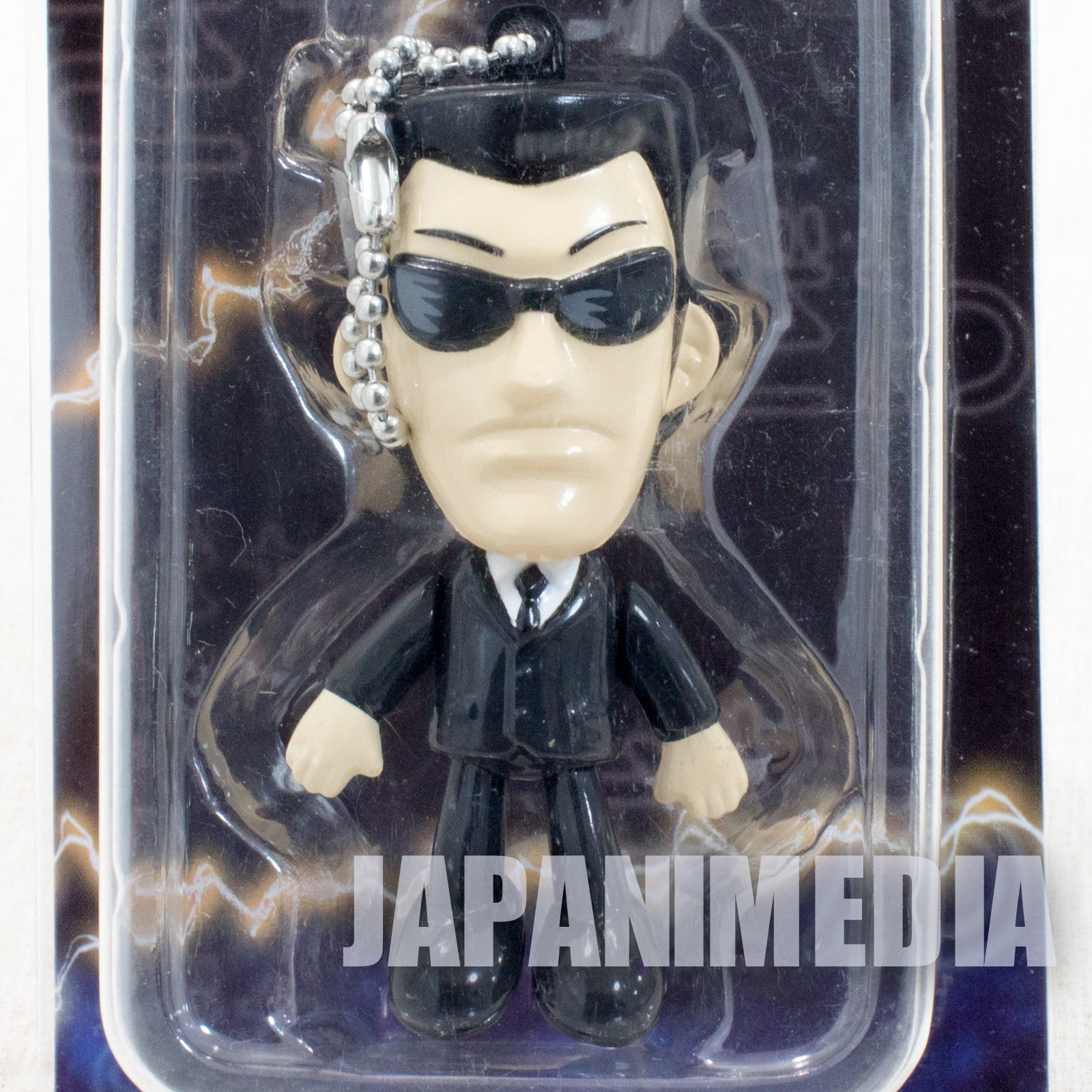 RARE! KAIJI Ultimate Survivor Black Suits Yuji Endo Figure Ballchain JAPAN ANIME