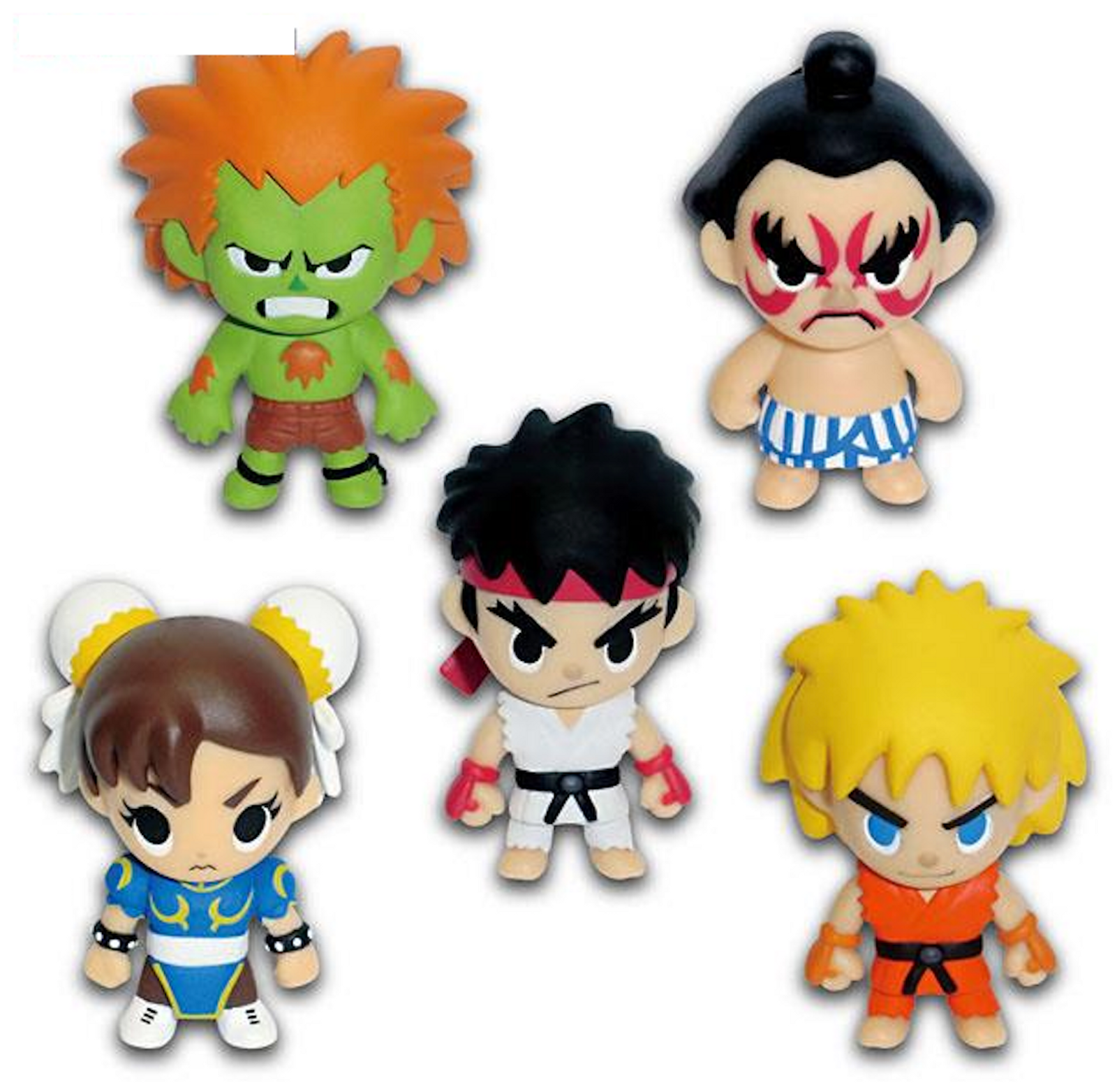 Street Fighter 2 Character Strap Figure Normal ver. 5pc Set Capcom JAPAN GAME