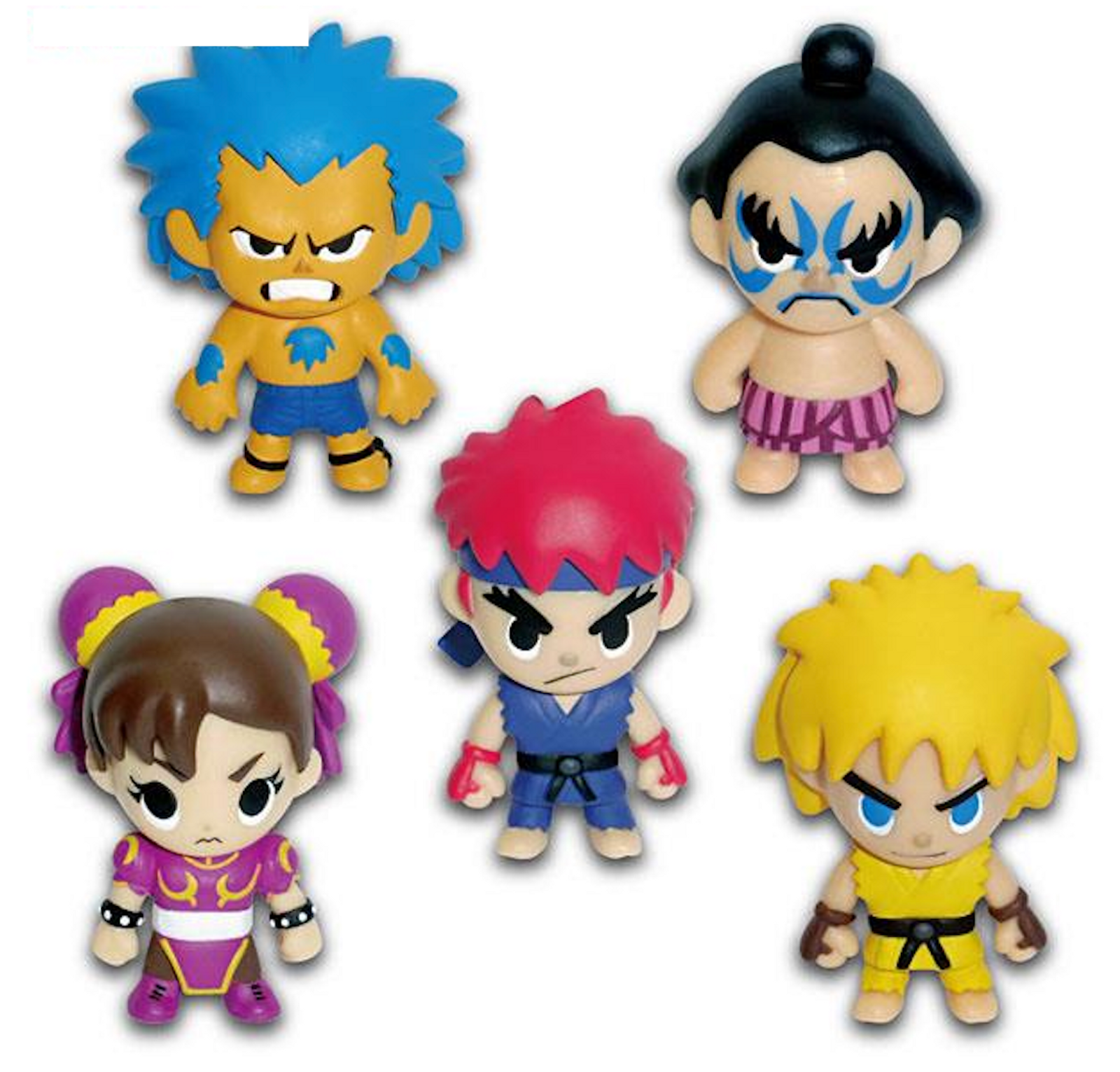 Street Fighter 2 Character Strap Figure Another ver. 5pc Set Capcom JAPAN GAME