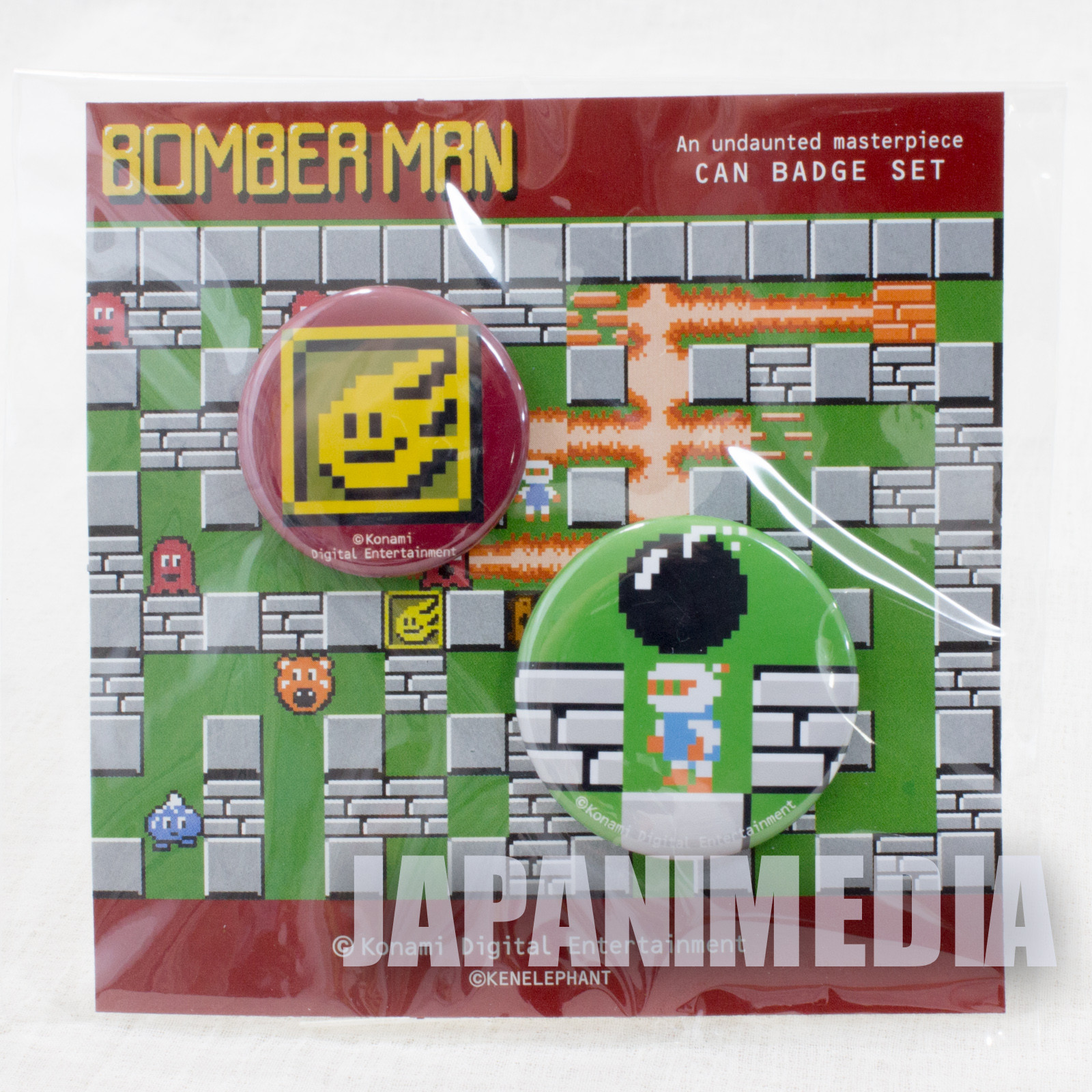 Bomberman Button badge 2pc set JAPAN GAME FAMICOM NES
