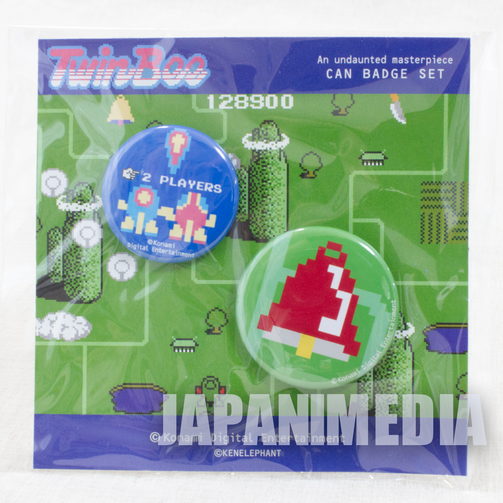 TwinBee Button badge 2pc set KONAMI JAPAN GAME FAMICOM NES