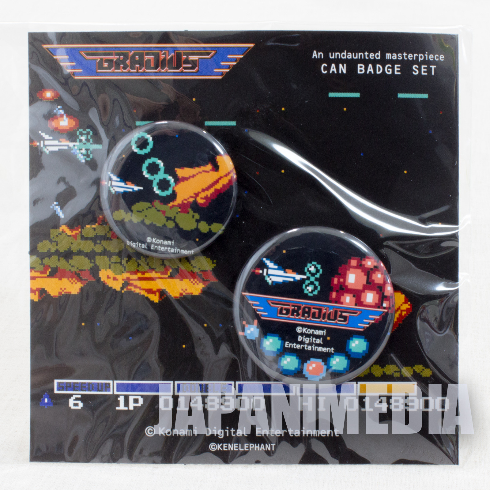 Gradius Button badge 2pc set KONAMI JAPAN GAME FAMICOM NES
