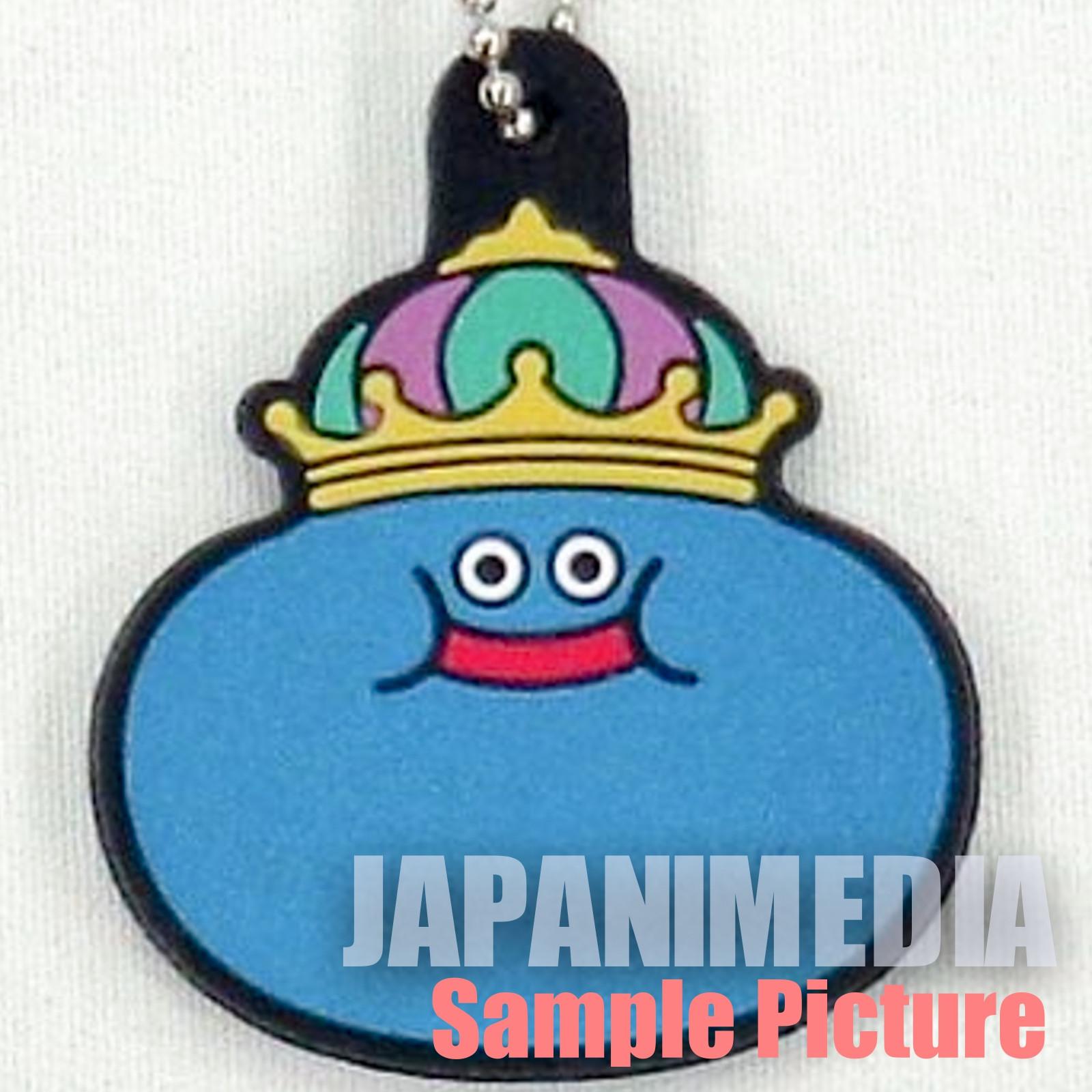 Dragon Quest Monster Rubber Mascot Ballchain King Slime JAPAN GAME WARRIOR