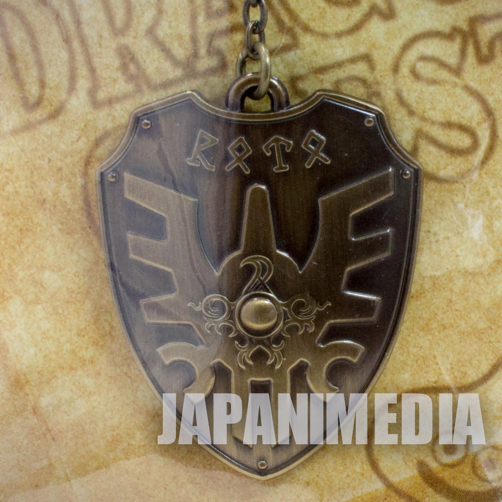Dragon Quest Erdrick's shield Metallic Keychain JAPAN GAME