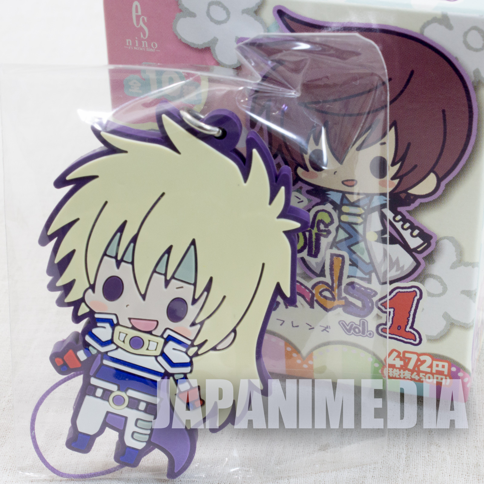 Tales of Fantasia Series Stan Aileron Destiny Rubber Mascot Strap JAPAN GAME