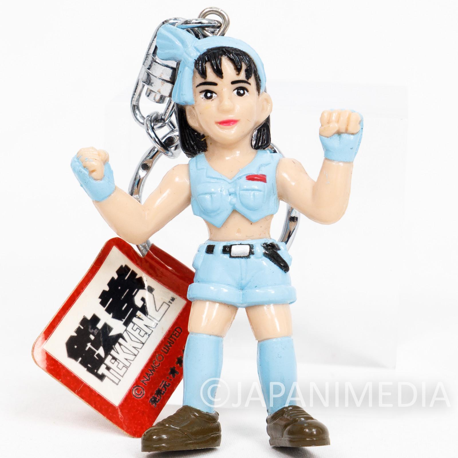 Retro RARE! Tekken Jun Kazama Figure Keychain Namco JAPAN GAME