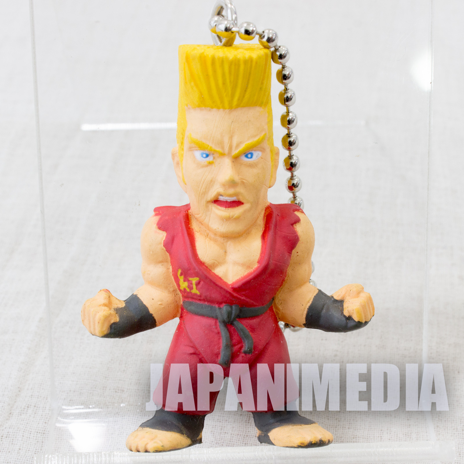Retro RARE! Tekken Paul Phoenix Figure Keychain Namco JAPAN GAME