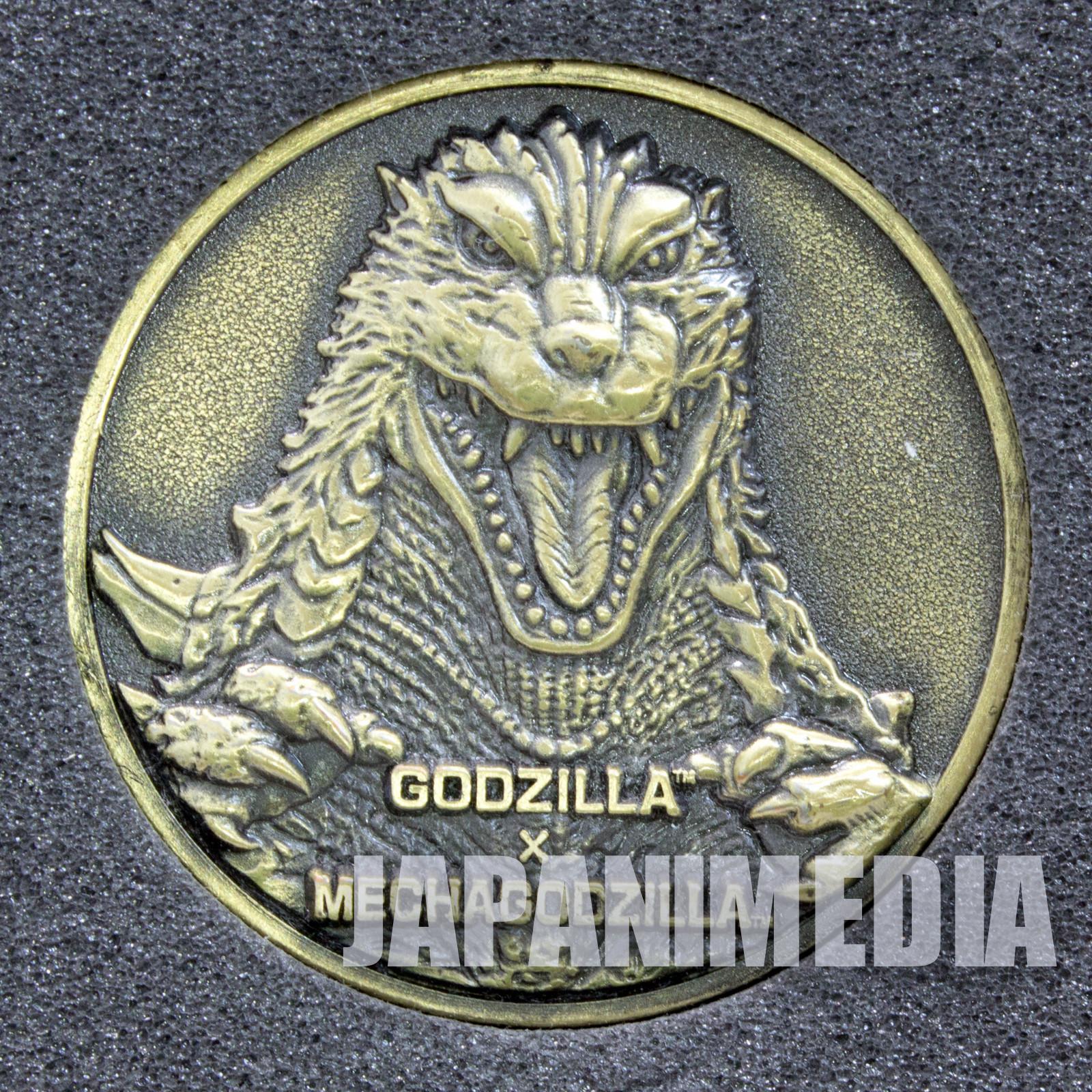 Godzilla Mecha-godzilla Movie 2002 Memorial Medal Toho JAPAN TOKUSATSU