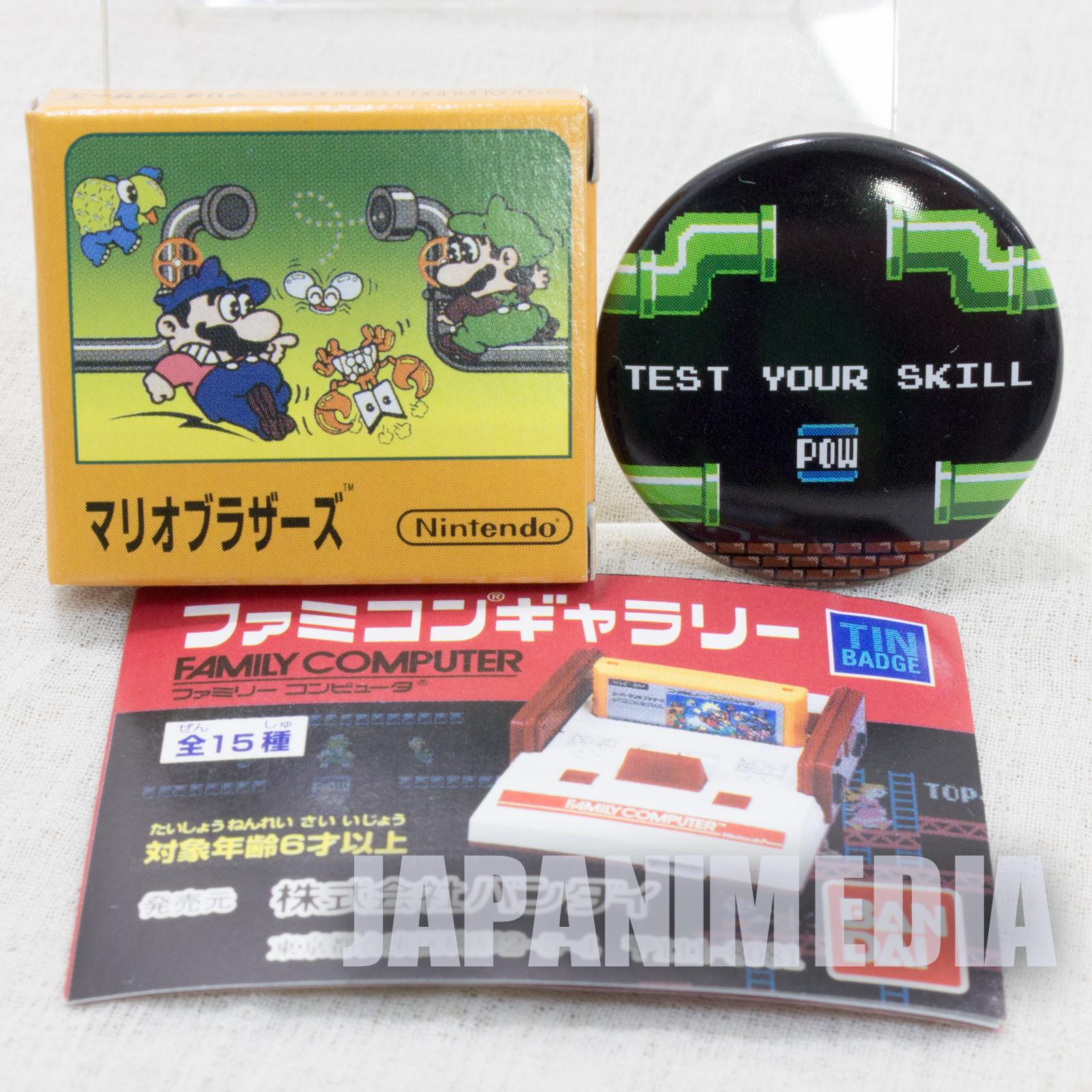 Mario Bros. Pins Badge #2 Nintendo JAPAN FAMICOM NES