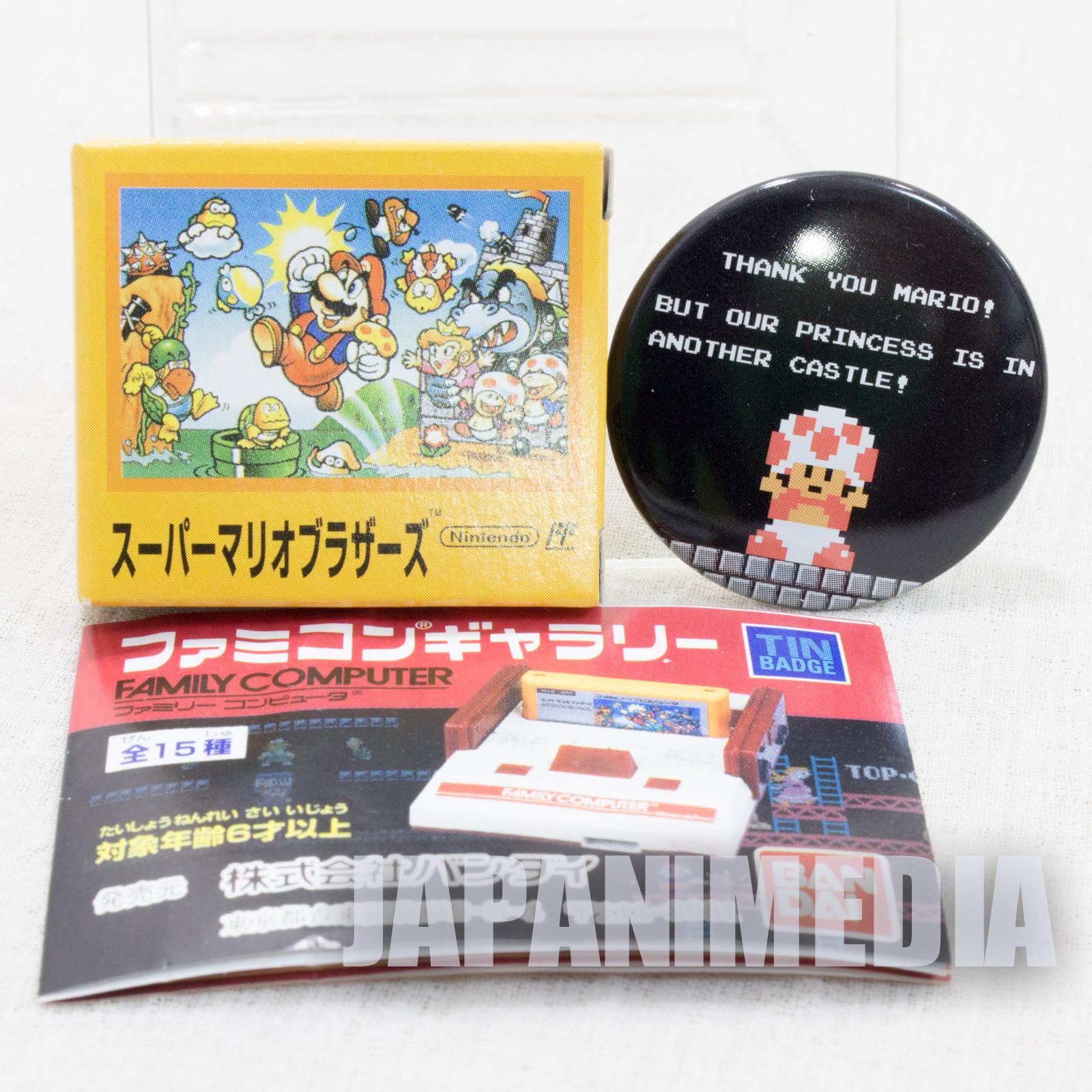 Super Mario Bros. Pins Badge #1 Nintendo JAPAN FAMICOM NES