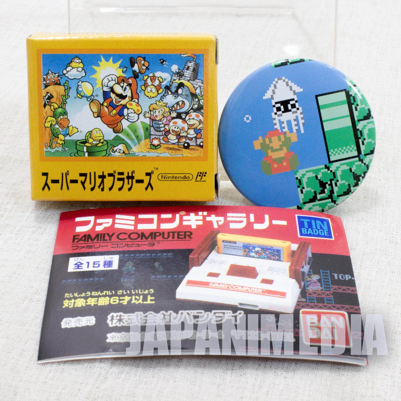 Super Mario Bros. Pins Badge #4 Nintendo JAPAN FAMICOM NES