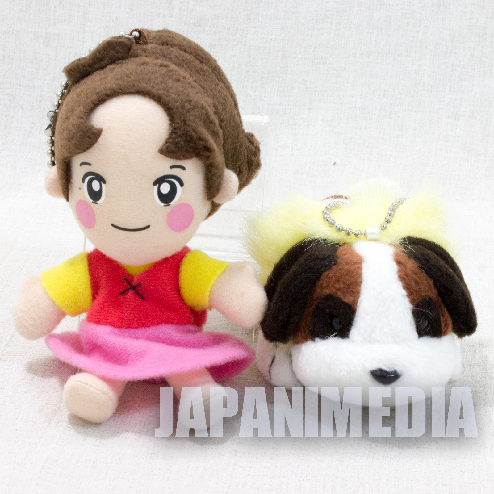 Heidi Girl of the Alps Heidi  + Josef Mini Plush Doll Set JAPAN ANIME