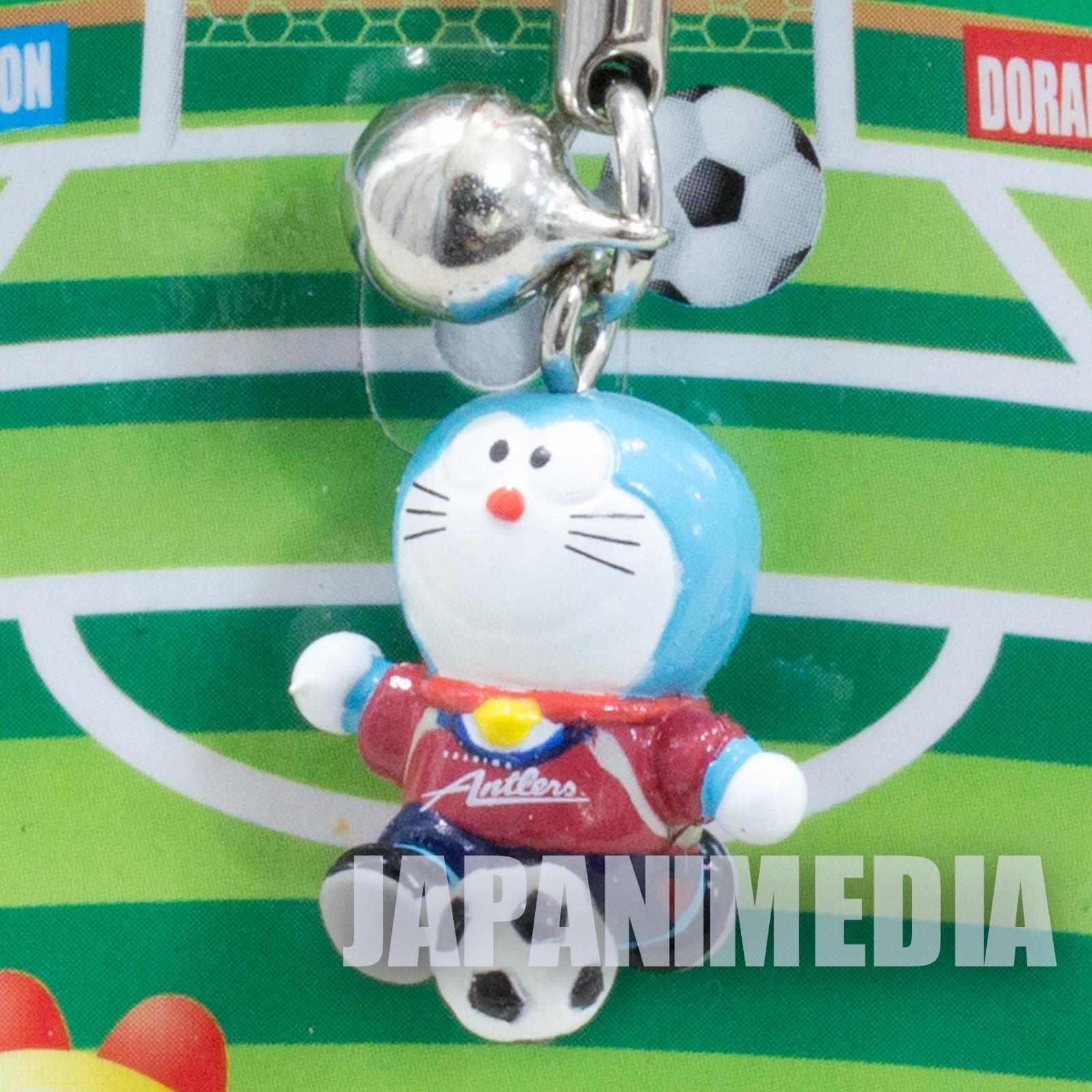 Doraemon x J.LEAGUE Mini Figure Strap (Kashima Antlers ver.) JAPAN ANIME