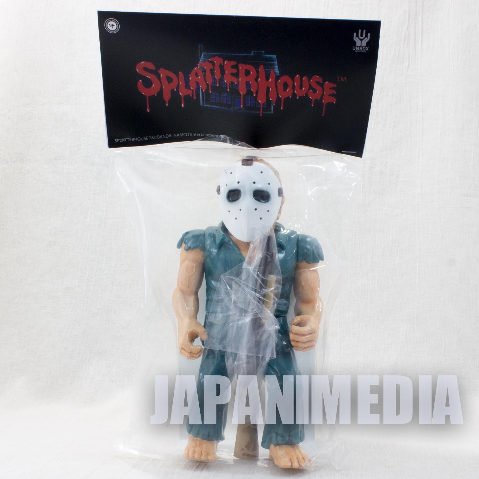 "Splatter House Rick Taylor with Shotgun Soft Vinyl Figure 10"" JAPAN"