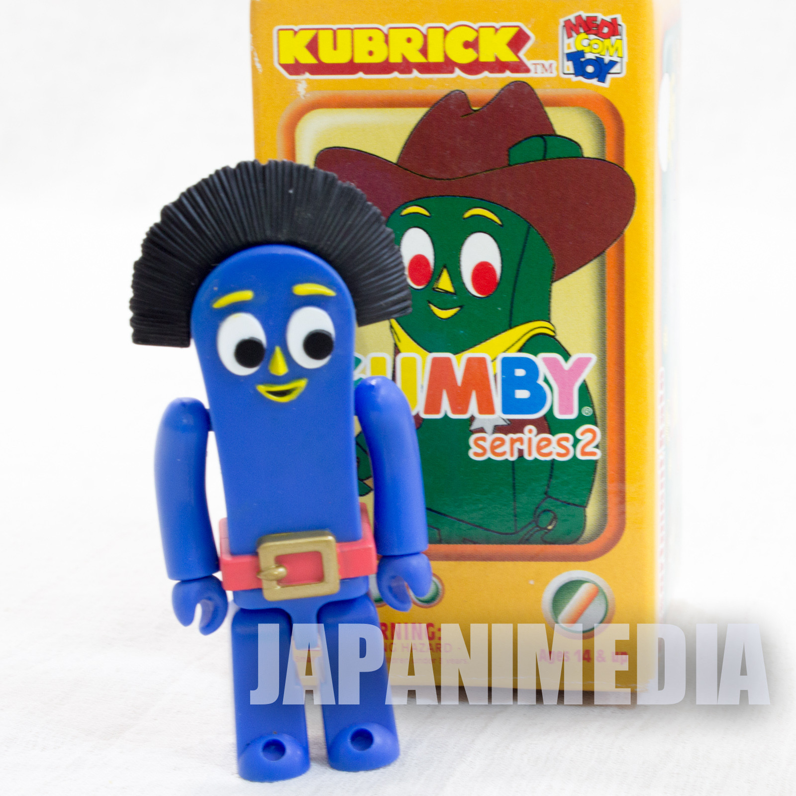 GUMBY Thinbuckle Figure series 2 Kubrick Medicom Toy JAPAN