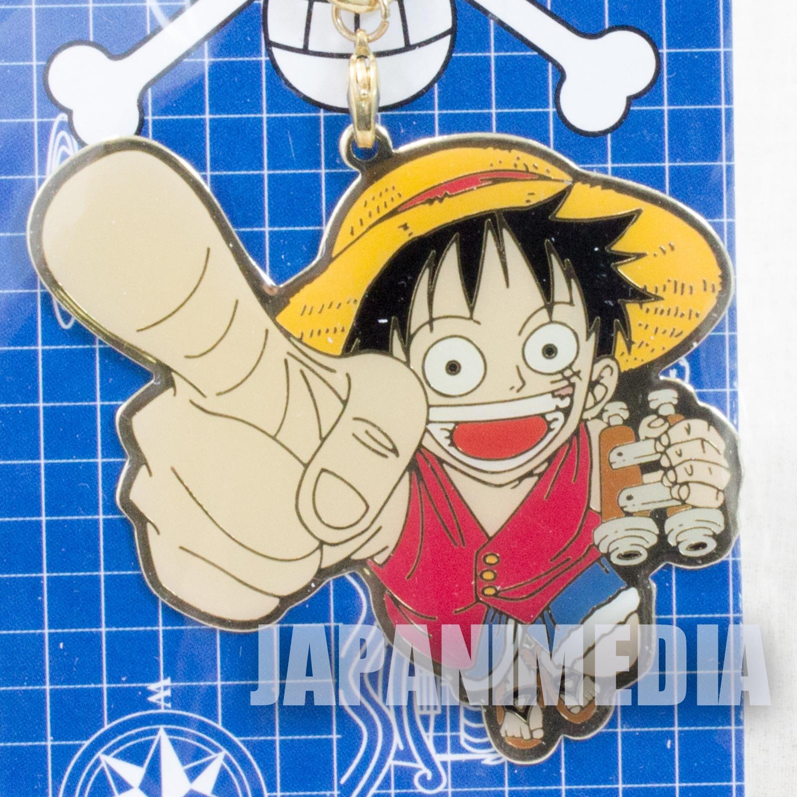 One Piece Luffy Metal Charm Keychain Shonen Jump JAPAN ANIME
