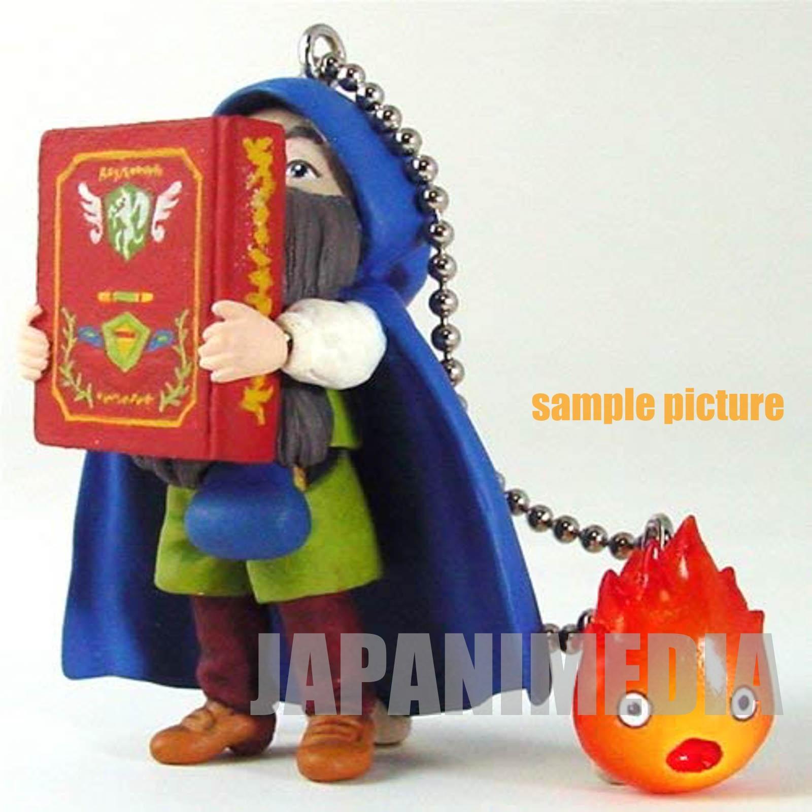 Howl's Moving Castle Markl & Calcifer Figure Key Chain [B] Cominica Ghibli JAPAN
