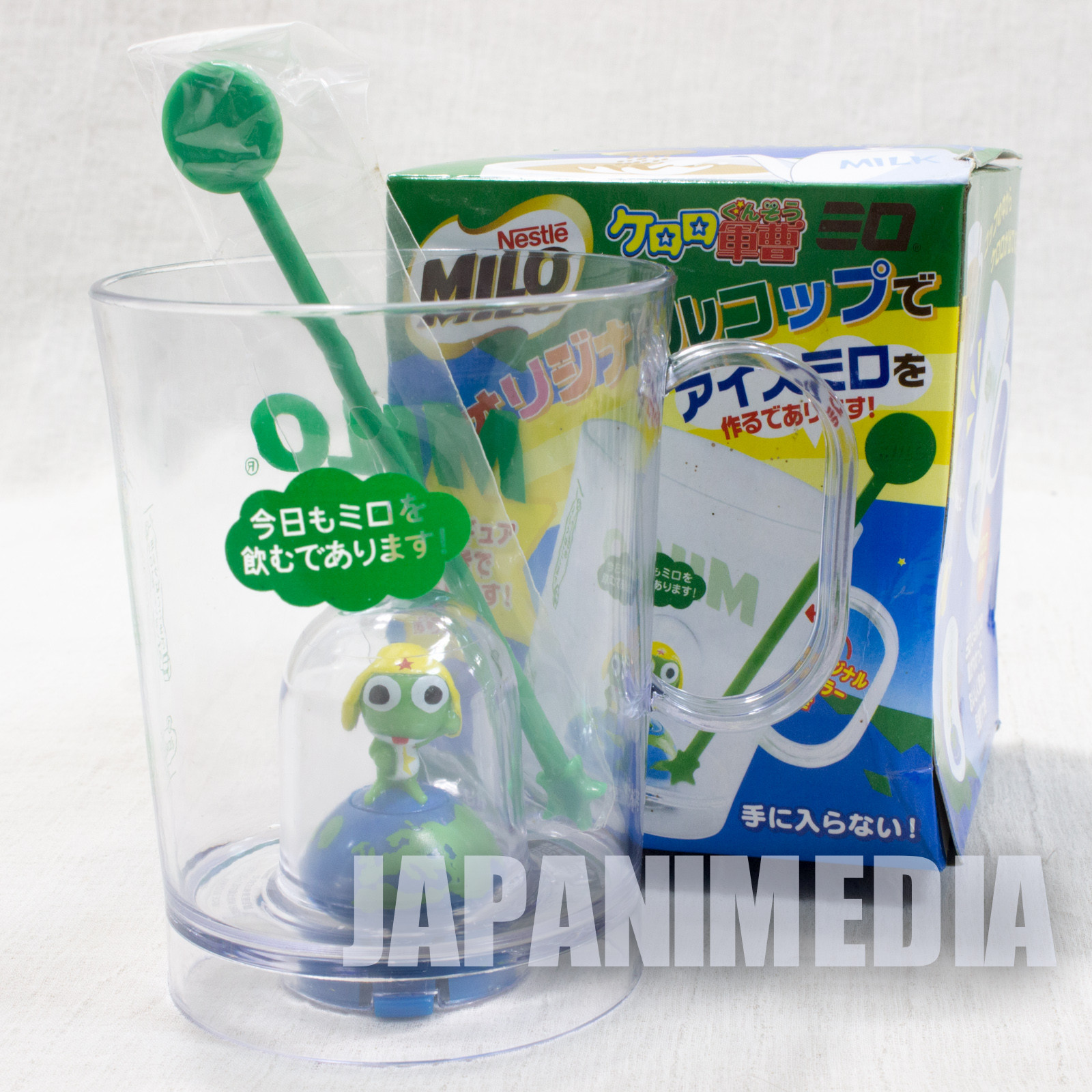 Sgt. Frog x MILO Keroro Gunso Plastic Mug JAPAN ANIME MANGA