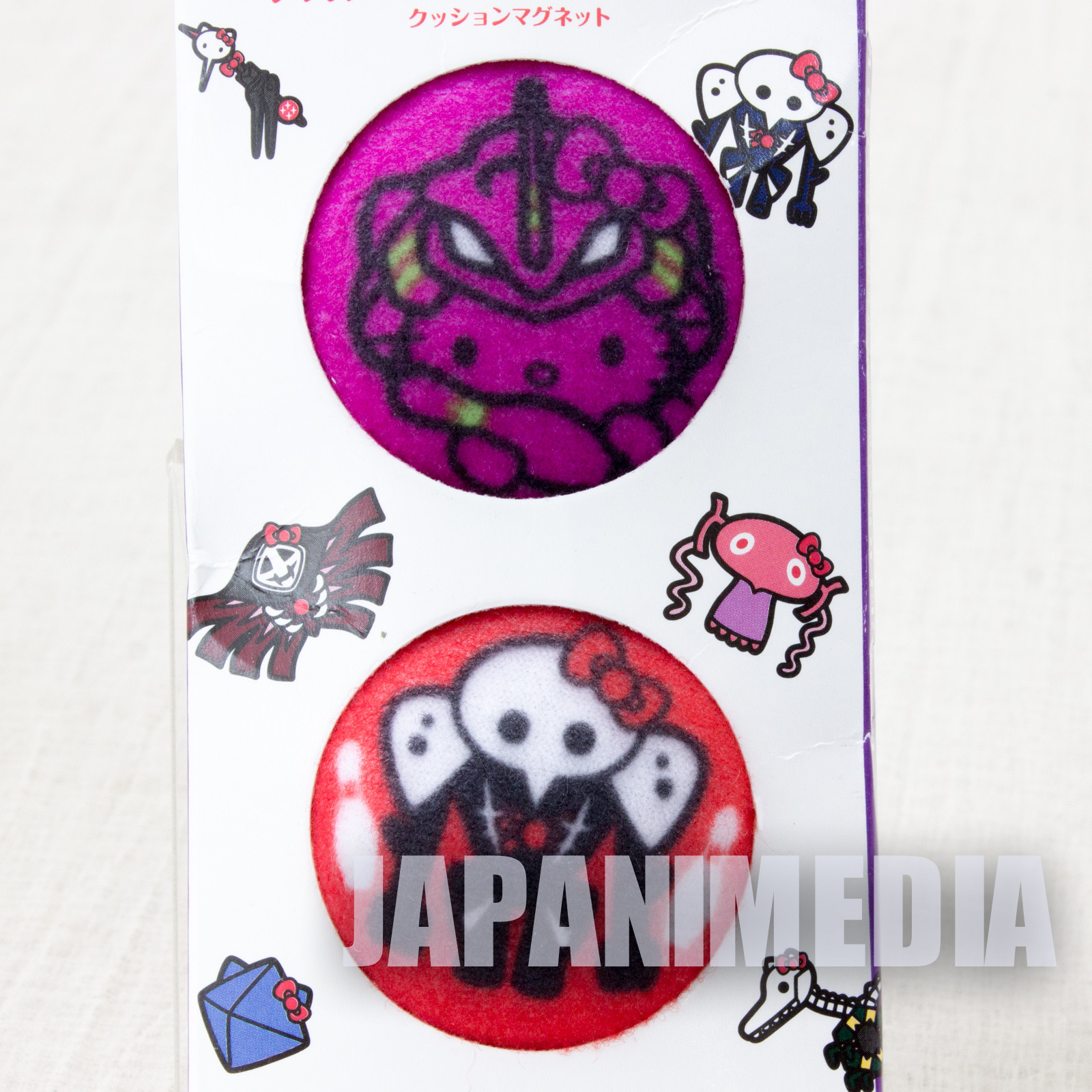 Evangelion x Hello Kitty Eva-01 & 4th Angel Sachiel Magnet 2pc Set ROUND 1 JAPAN ANIME