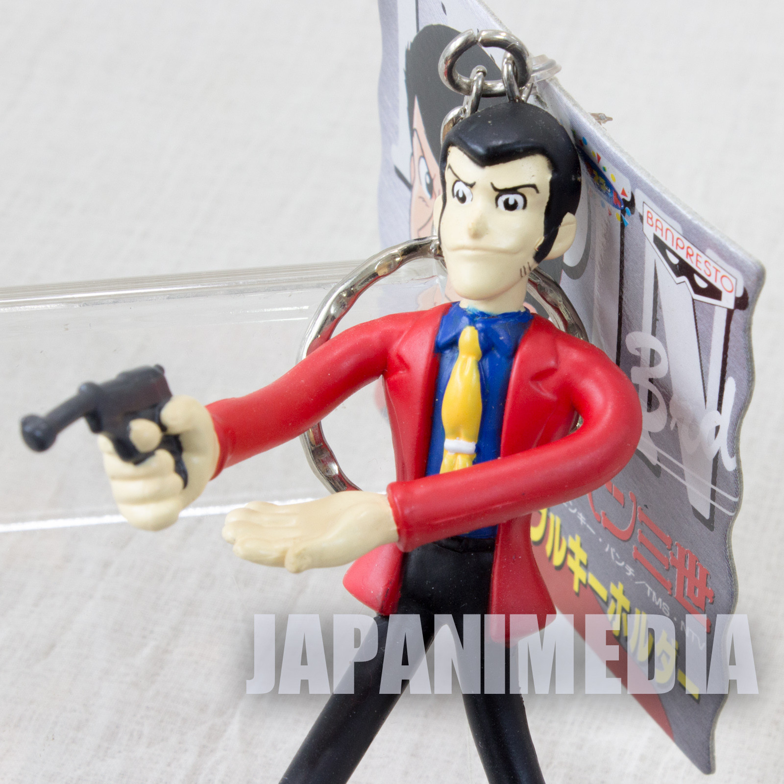 Lupin the Third (3rd) Lupin Bendable Figure Keychain JAPAN ANIME