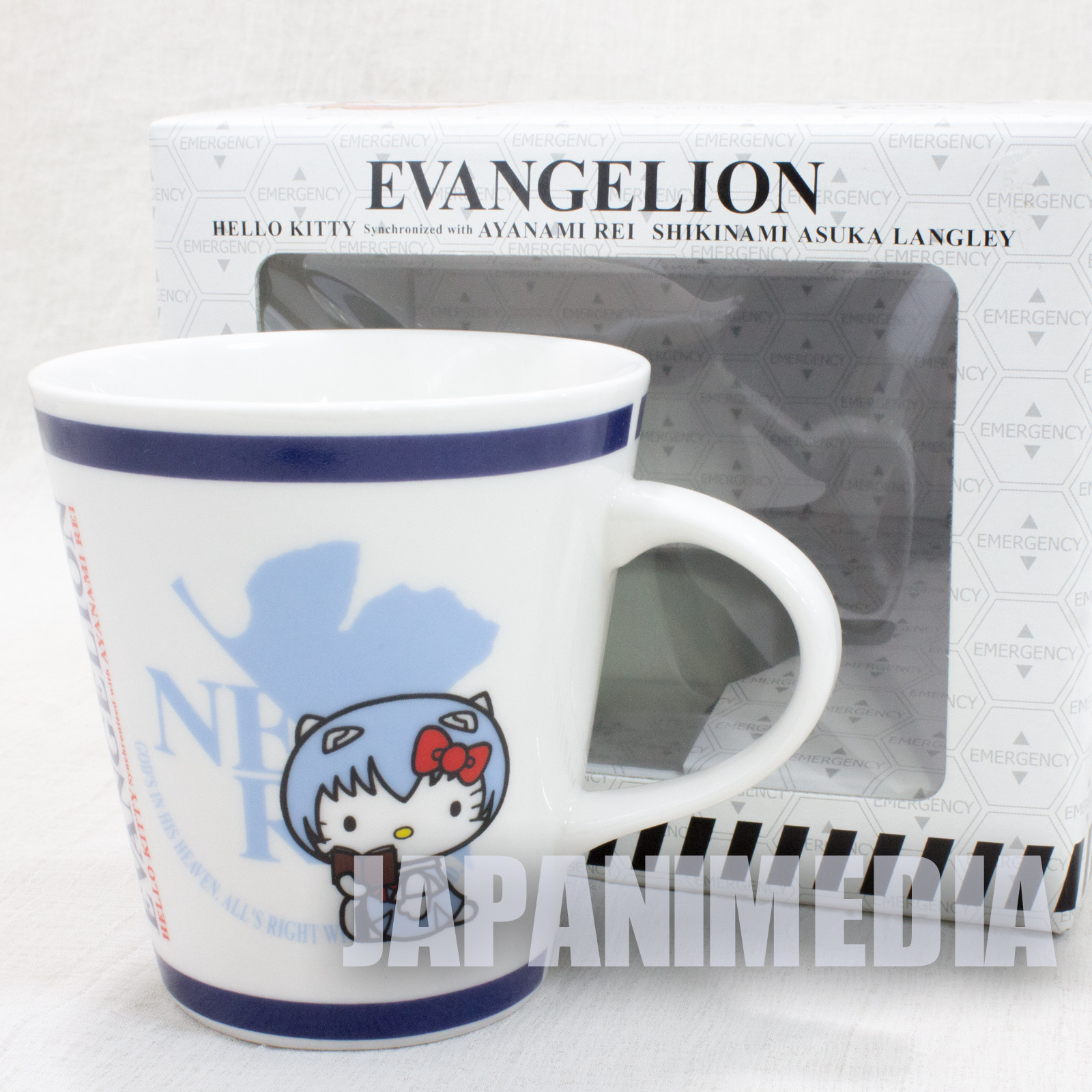Evangelion x Hello Kitty Mug Rei Ayanami Ver. Sanrio JAPAN ANIME