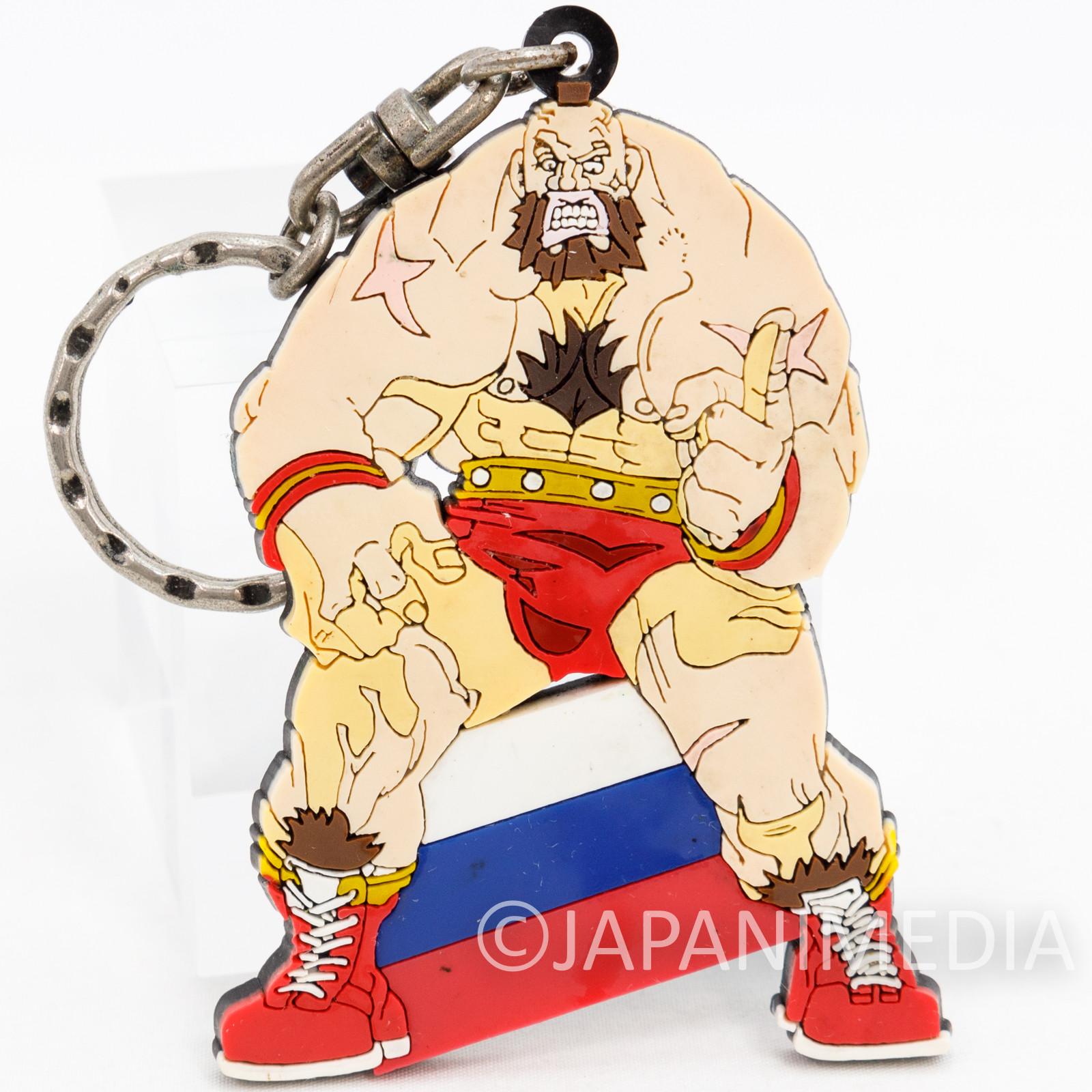 RARE! Street Fighter ZERO Zangief Rubber Mascot Key Chain JAPAN GAME CAPCOM