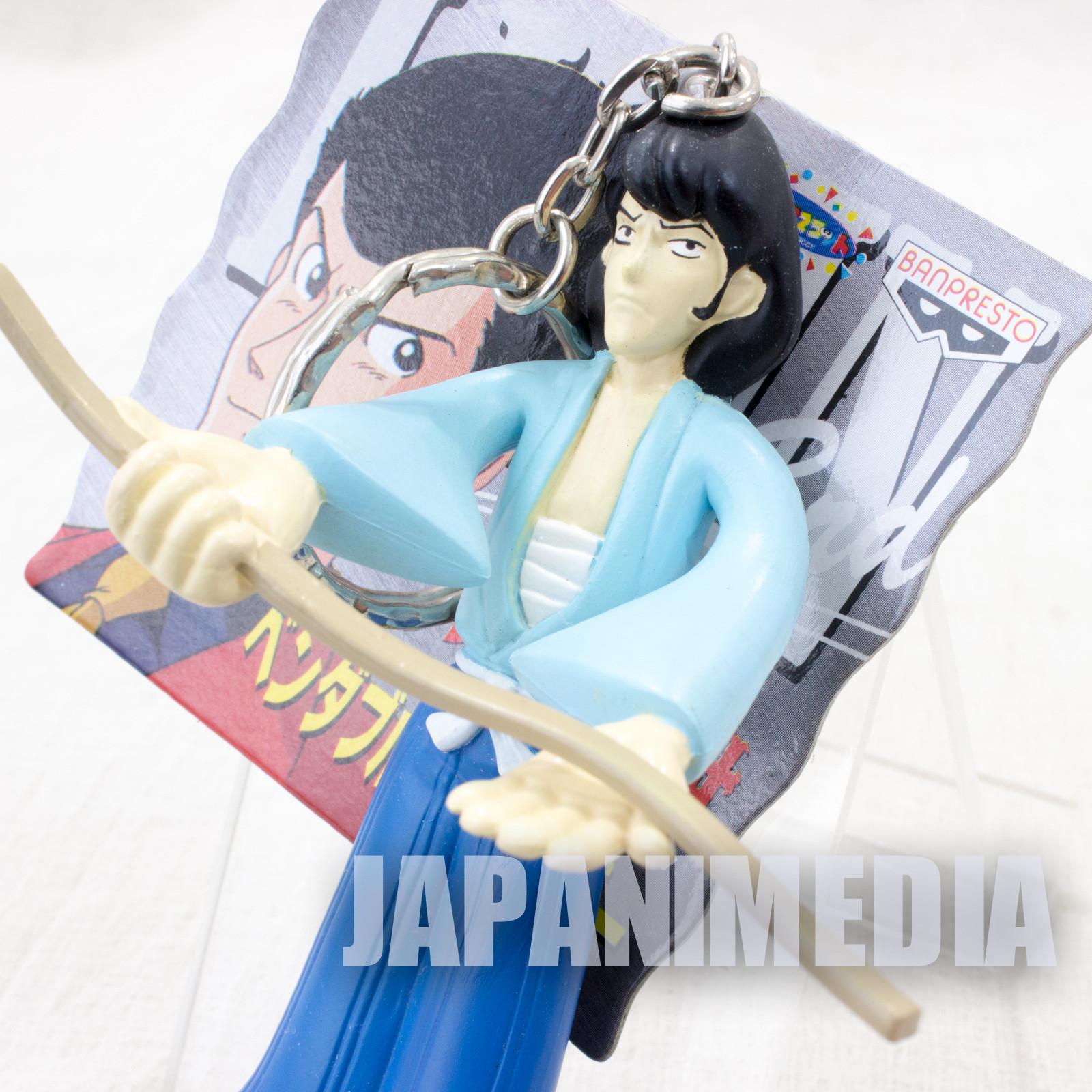 Lupin the Third (3rd) Goemon Bendable Figure Keychain JAPAN ANIME MANGA