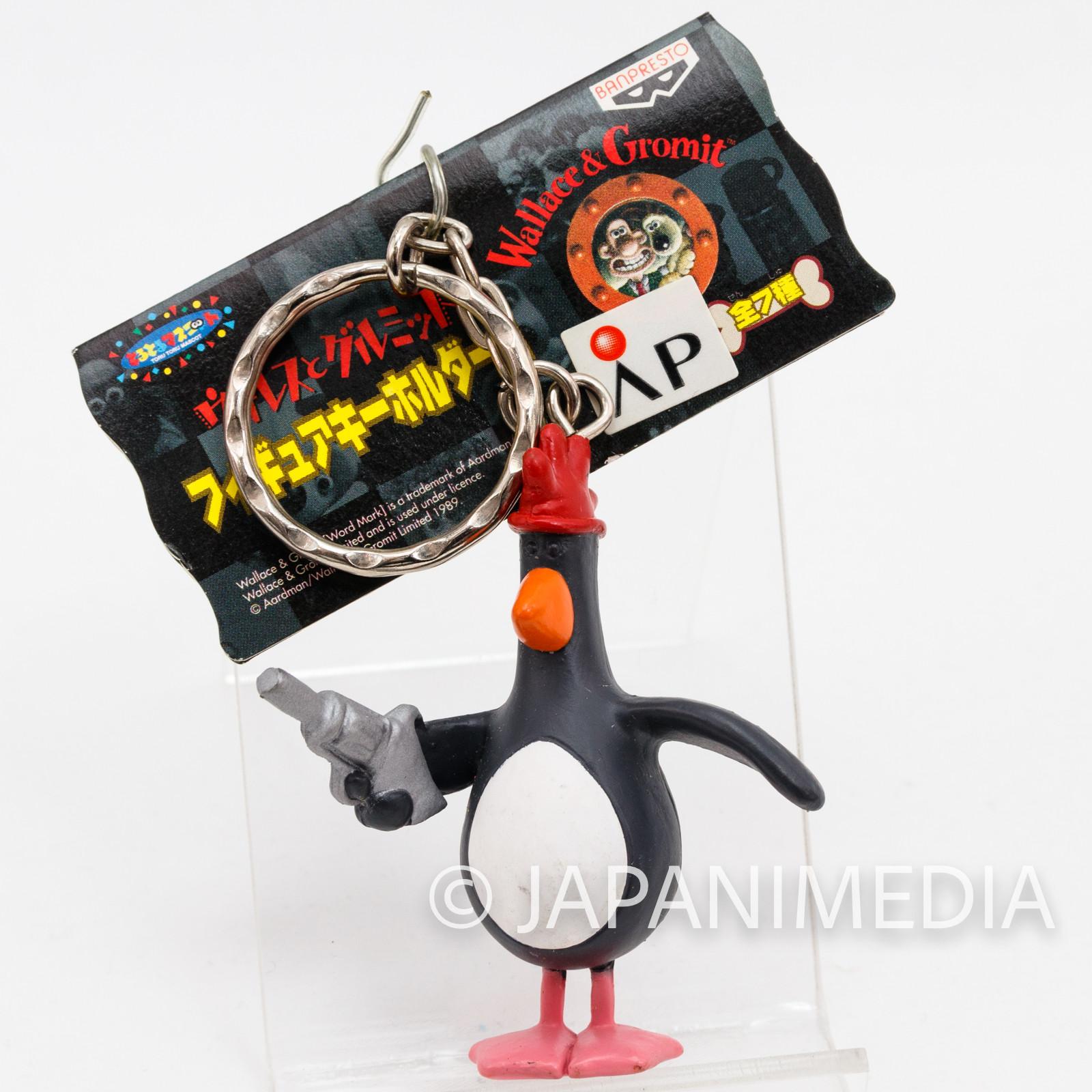 Wallace & Gromit Feathers McGraw Figure Key Chain 2 Banpresto JAPAN Ardman ANIME