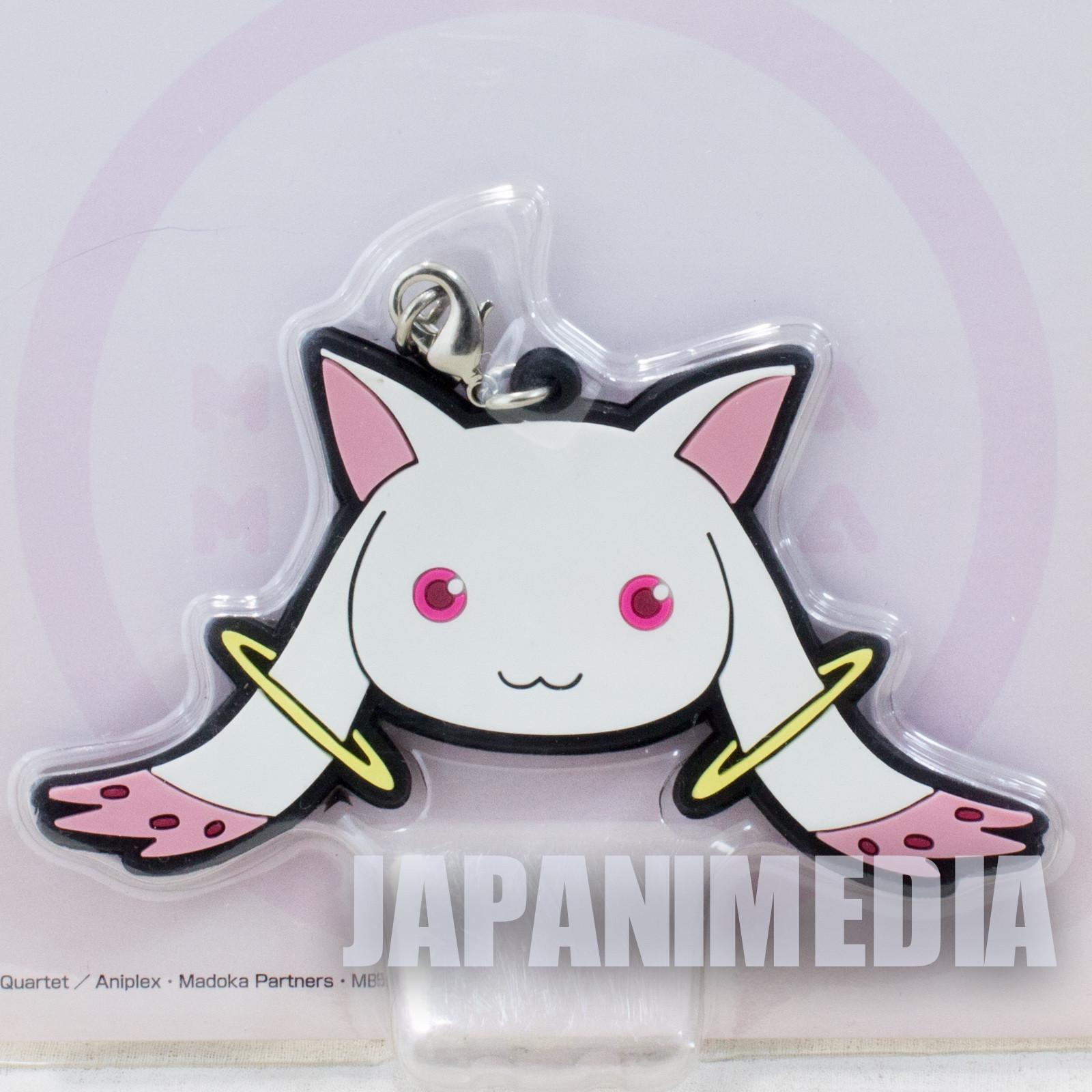 Puella Magi Madoka Magica Kyubey Rubber Strap JAPAN ANIME MANGA CAT 2