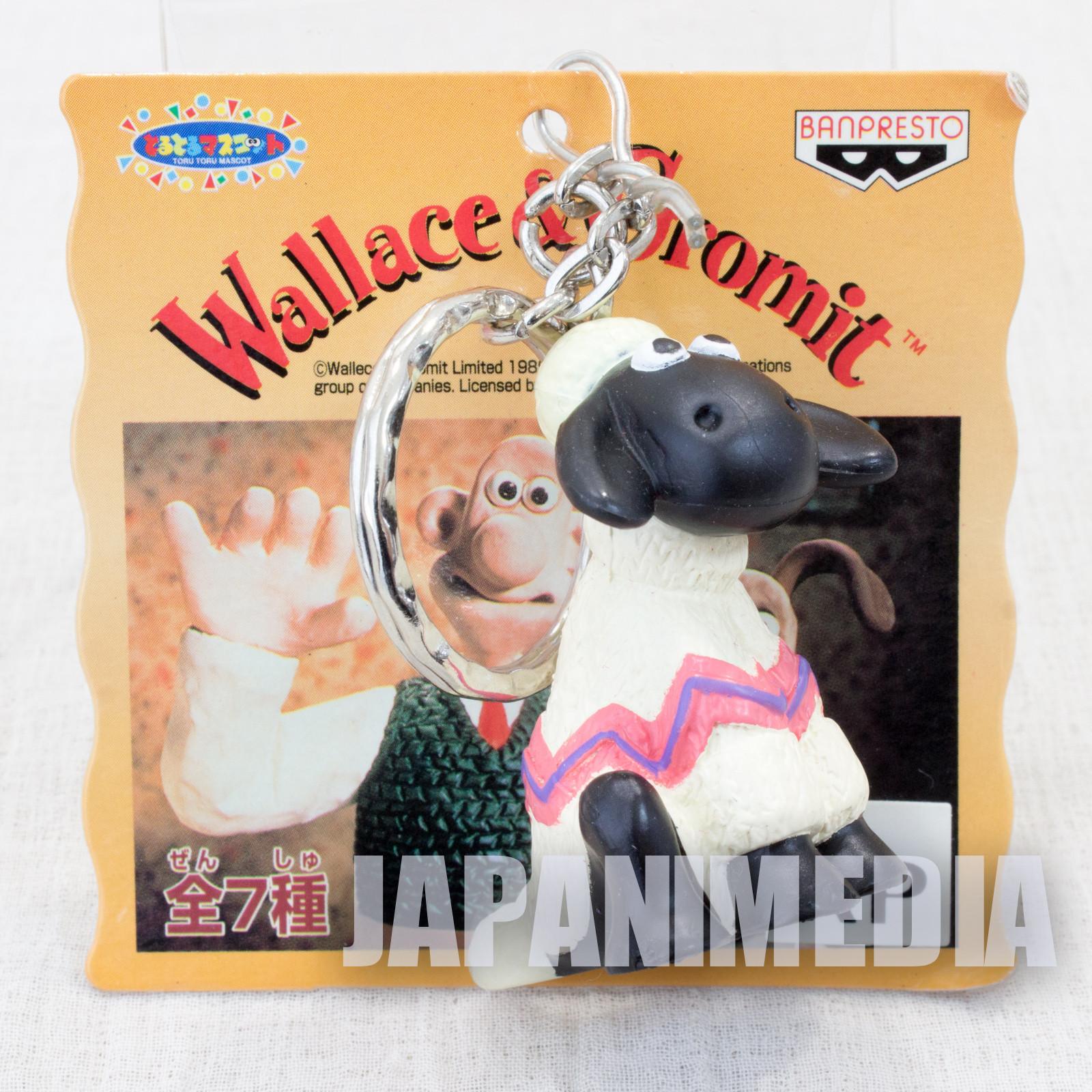 Wallace & Gromit Shaun Figure Key Chain Banpresto JAPAN Ardman